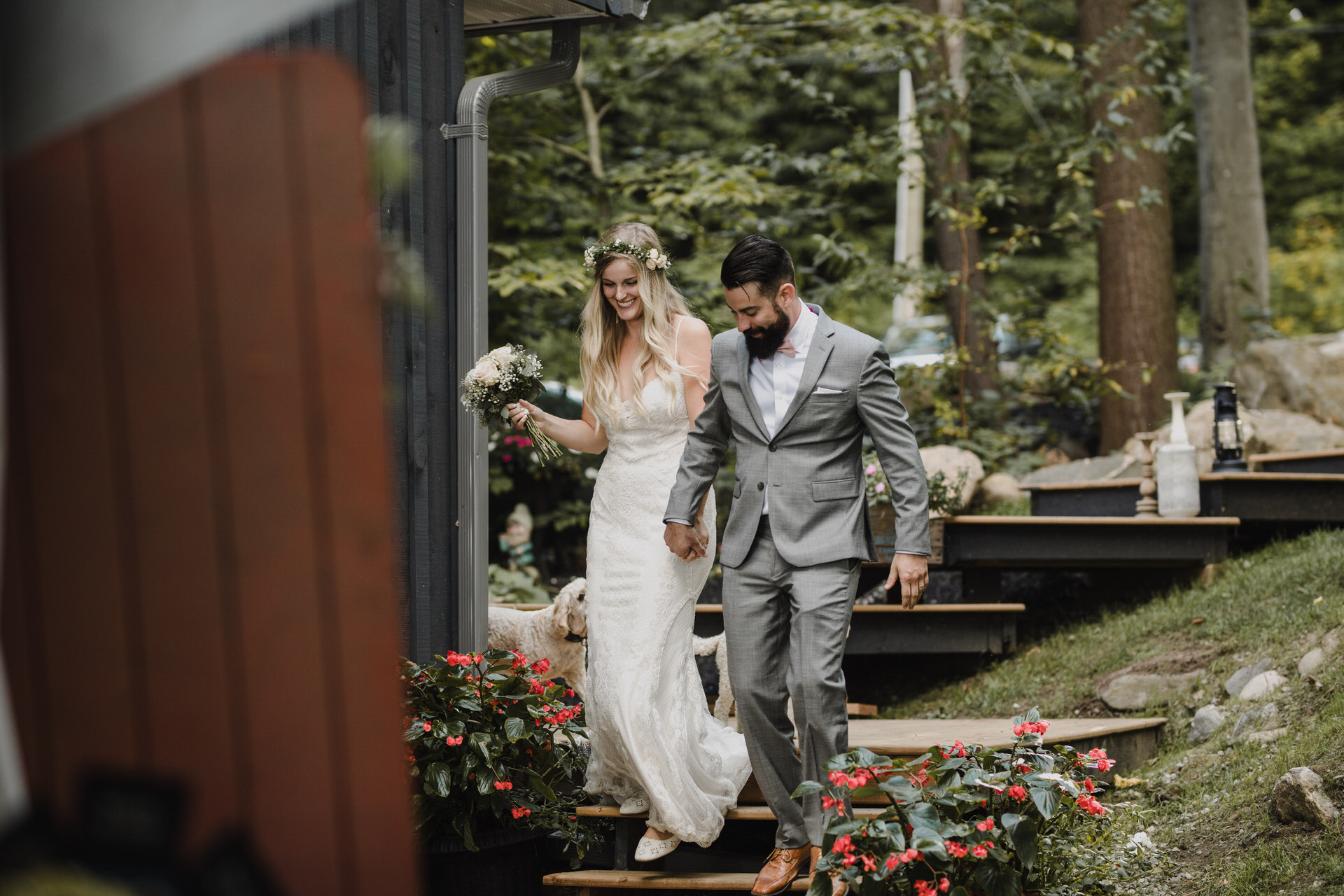 Muskoka Wedding - bride and groom entrance