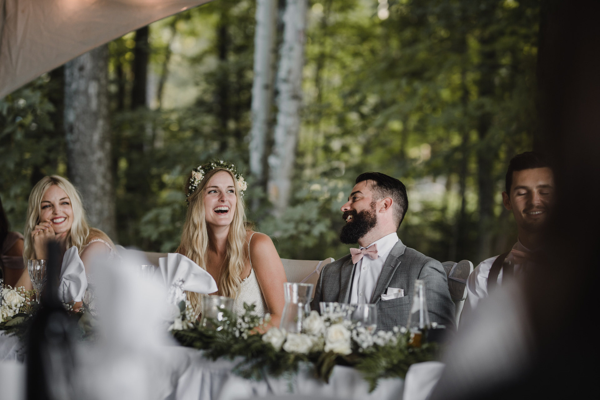 Muskoka Wedding - laughs during speeches