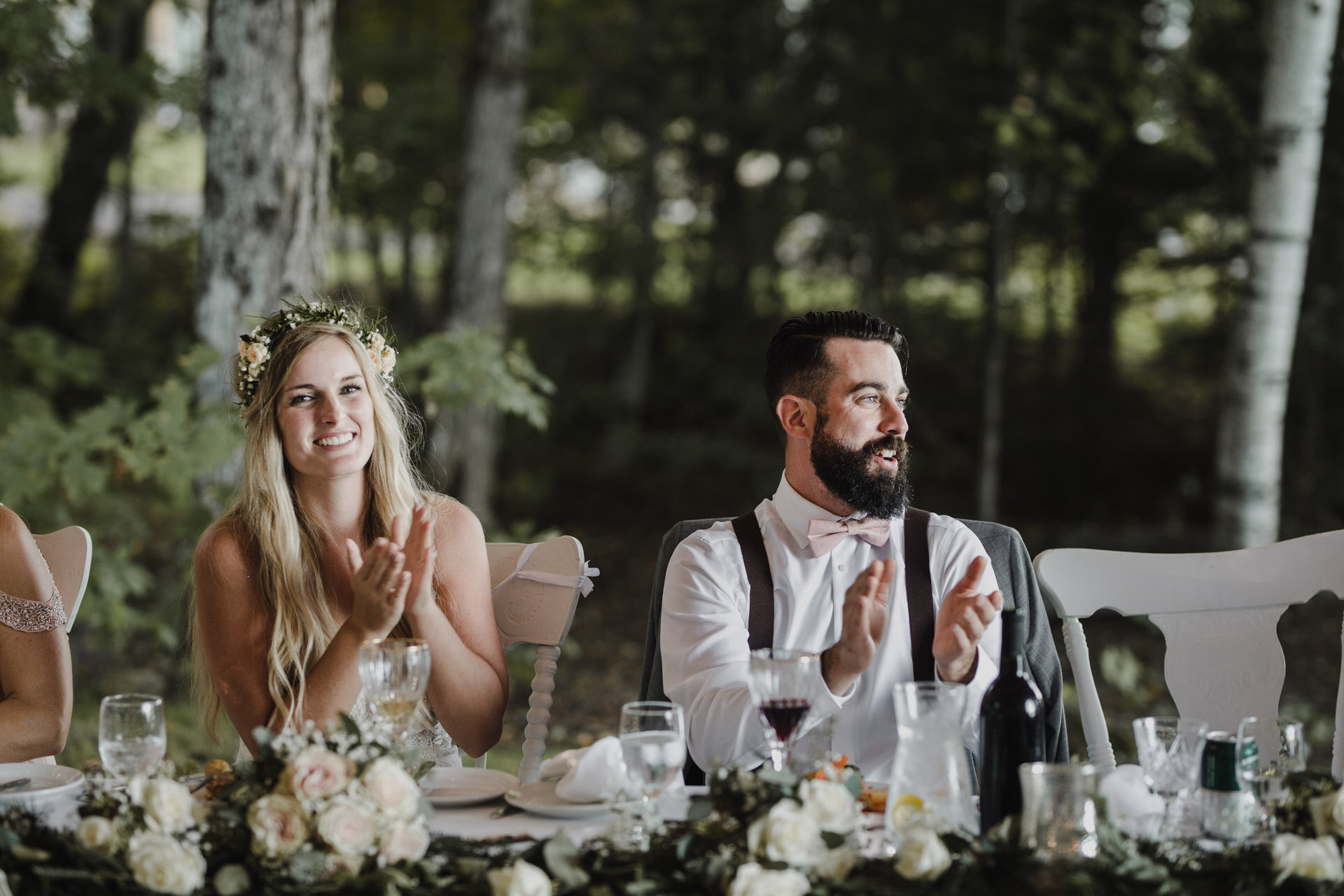Muskoka Wedding - clapping