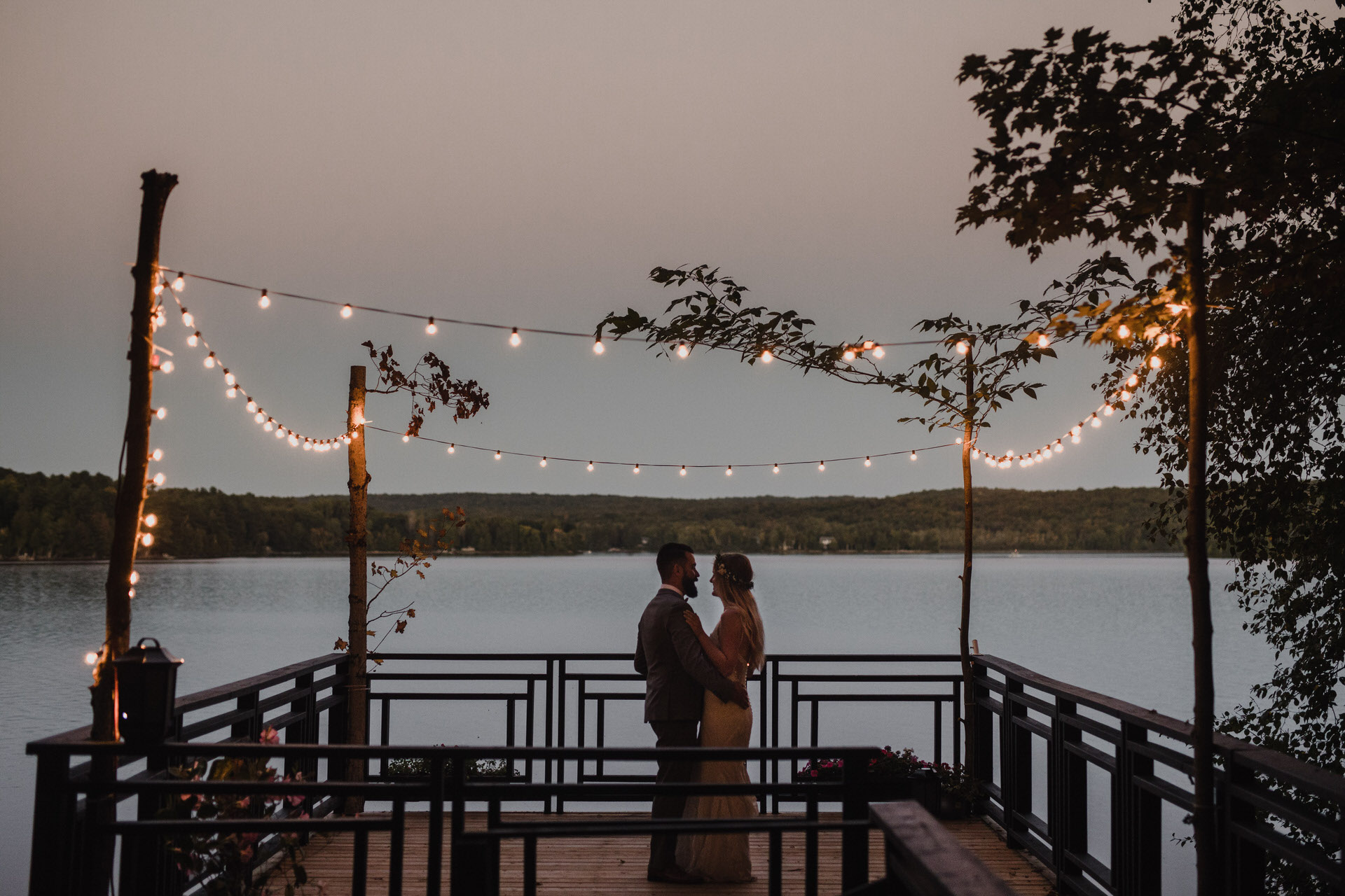 Muskoka Wedding - dancing at dusk
