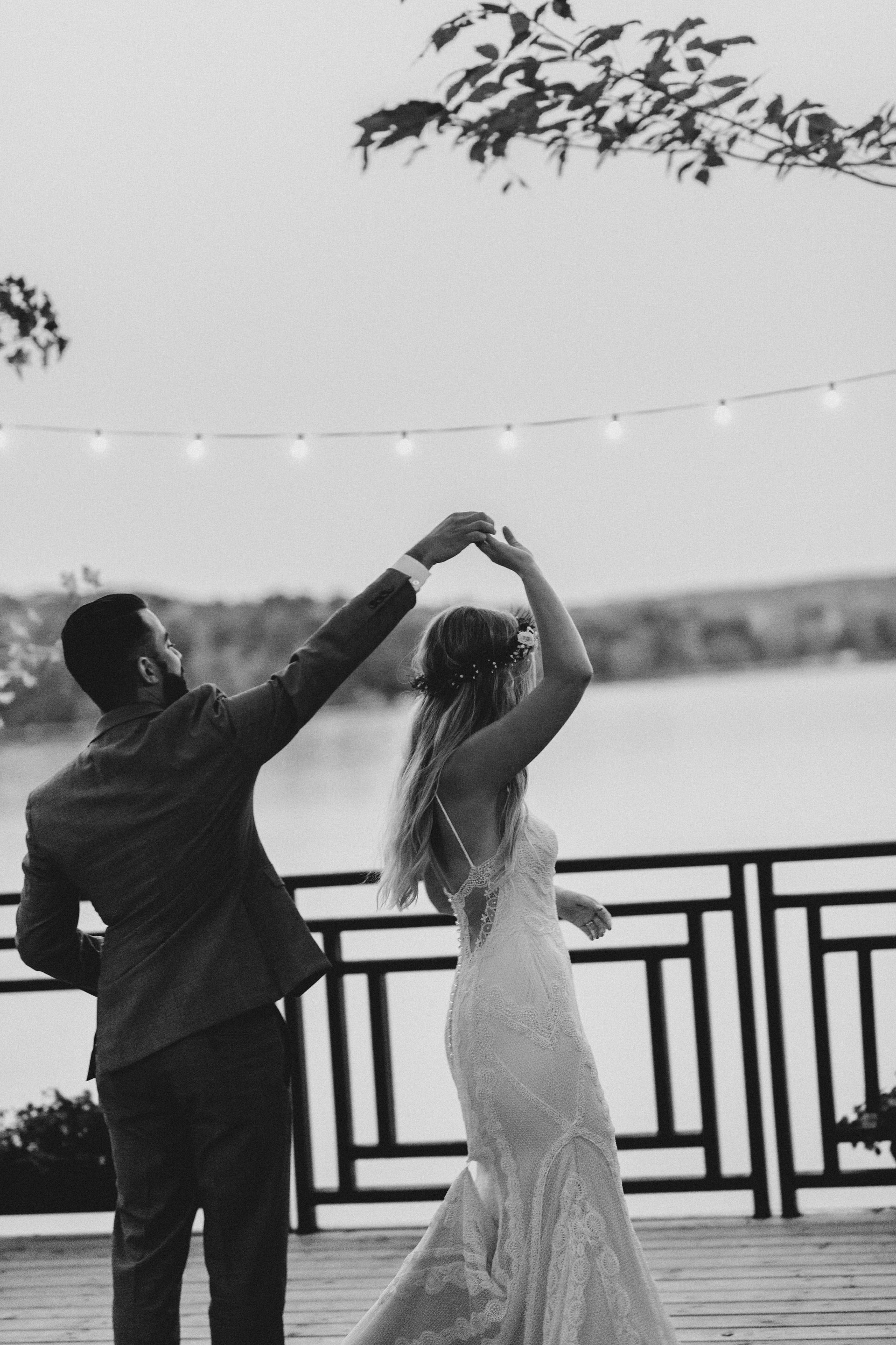 Muskoka Wedding - dancing under the open sky