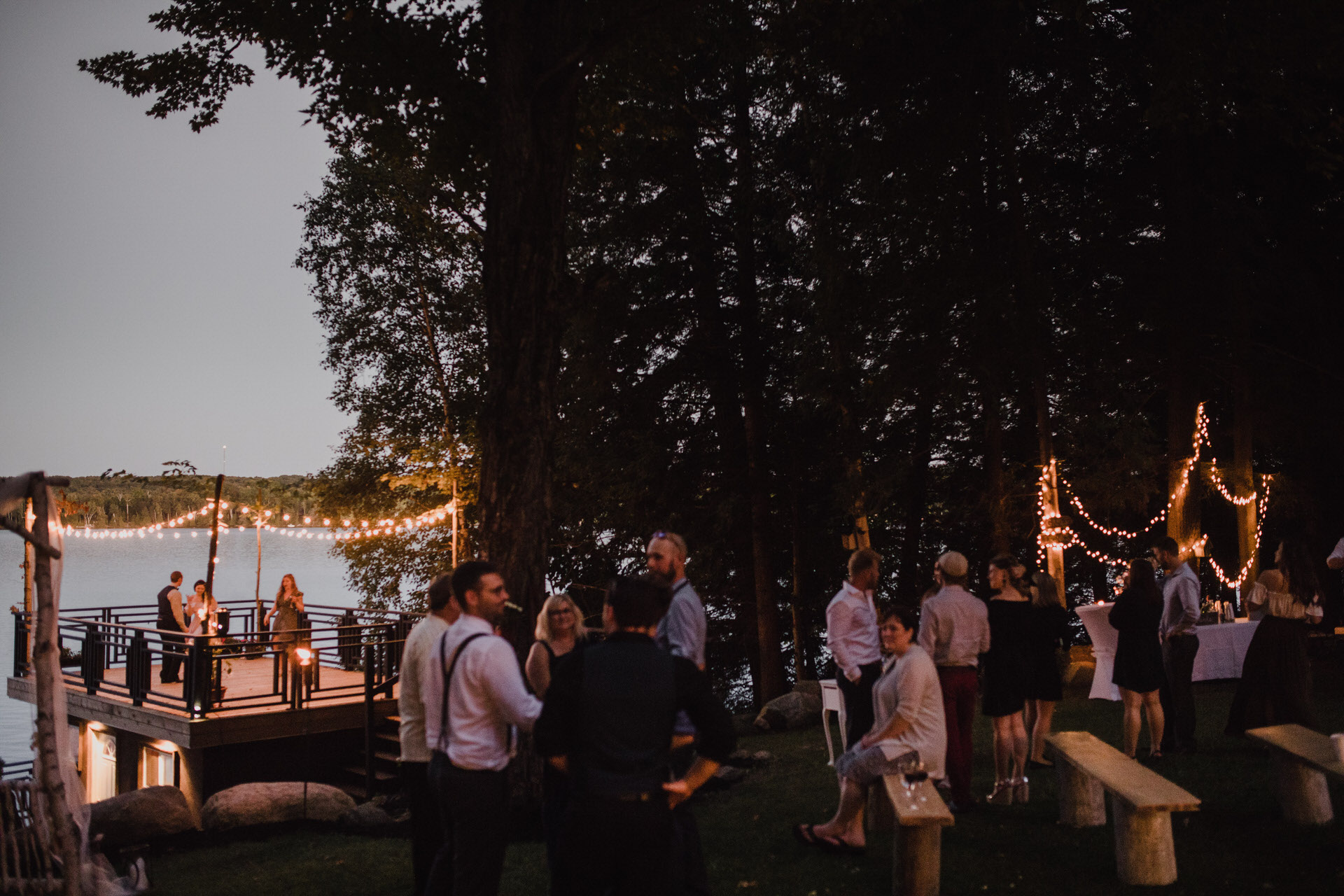 Muskoka Wedding - cottage party