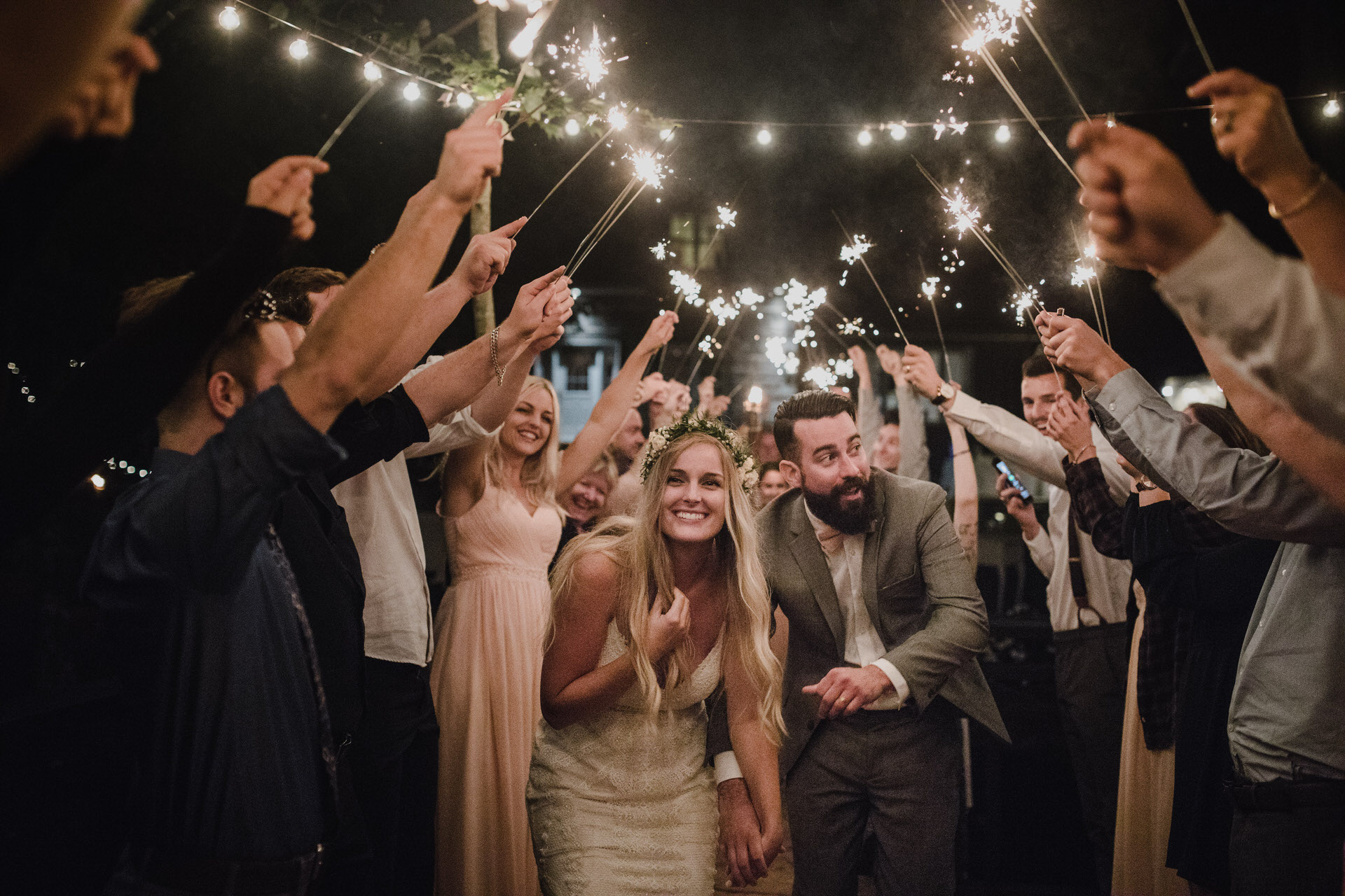 Muskoka Wedding - sparklers