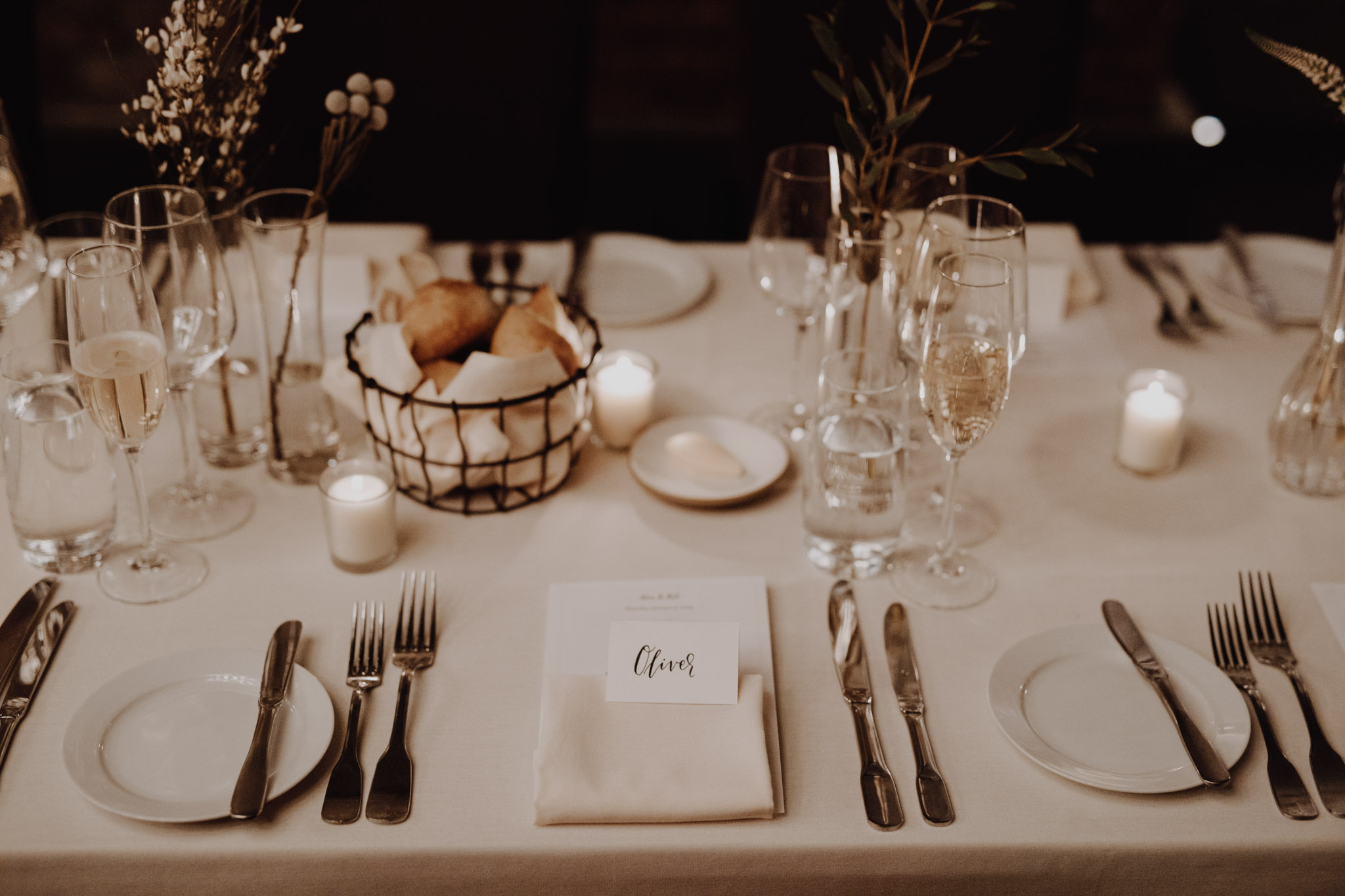 Downtown NYC Wedding - The Beekman Hotel - table decor