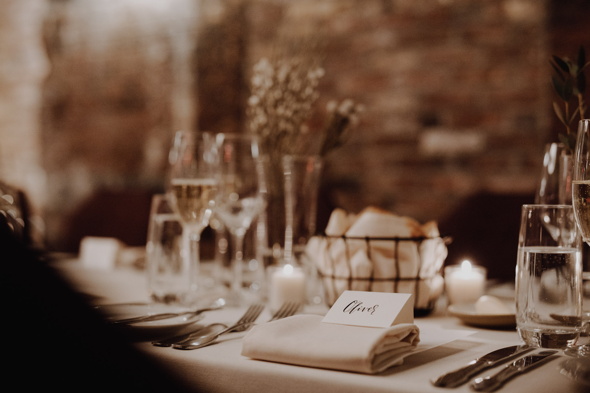 Downtown NYC Wedding - The Beekman Hotel - table settings