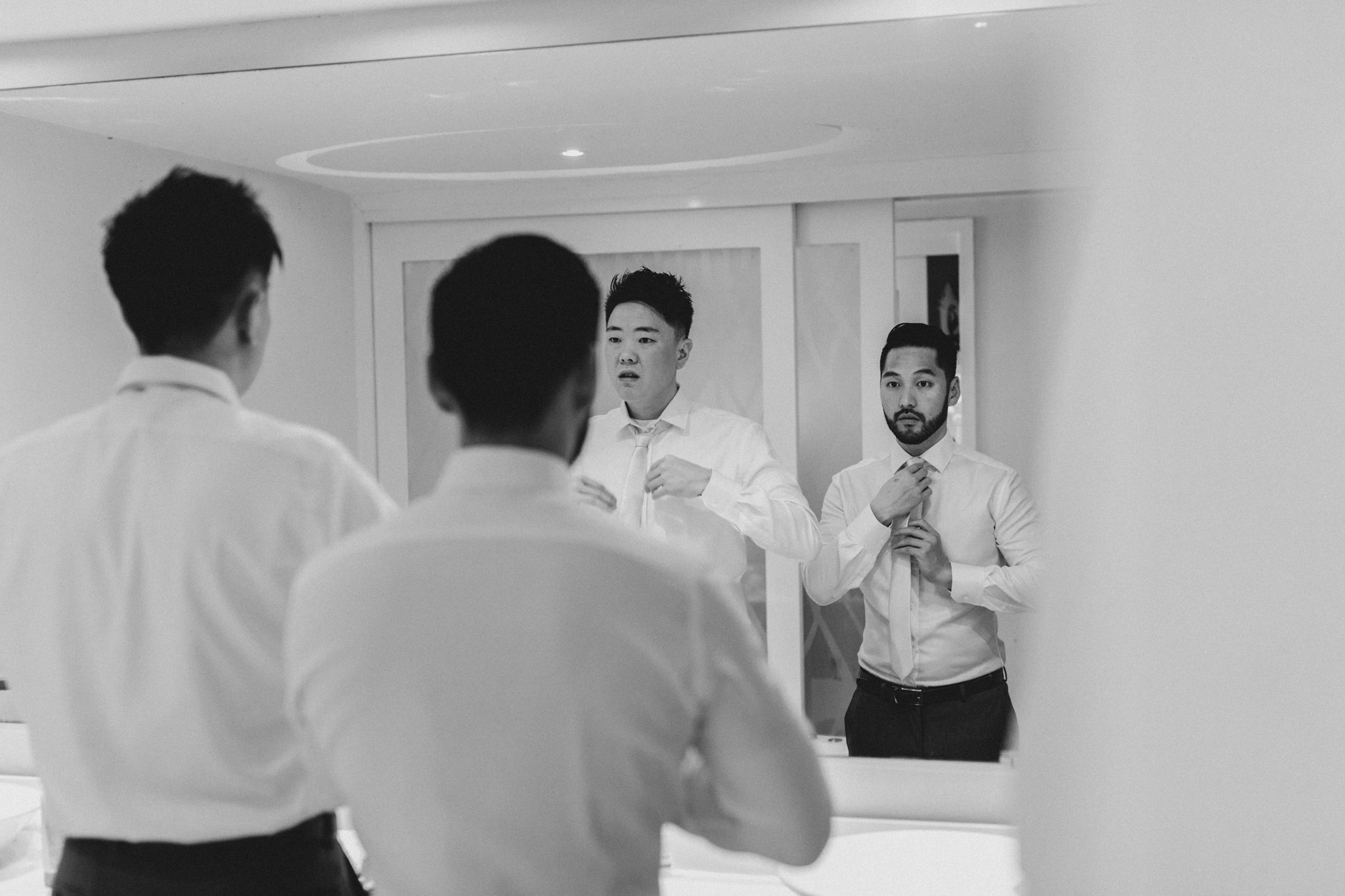 Cancun Mexico Wedding - groomsmen getting ready