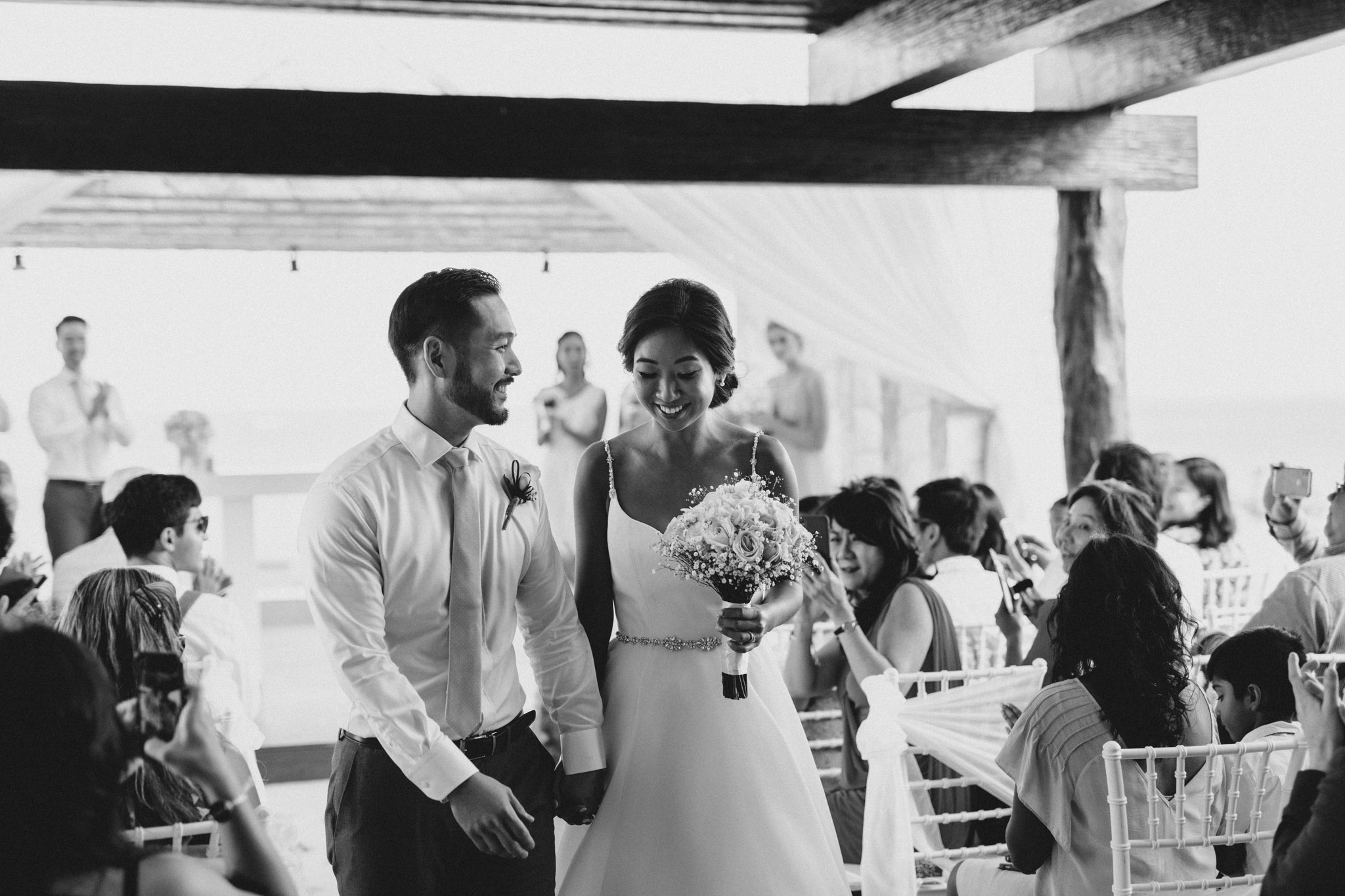 Cancun Mexico Wedding - mr and mrs