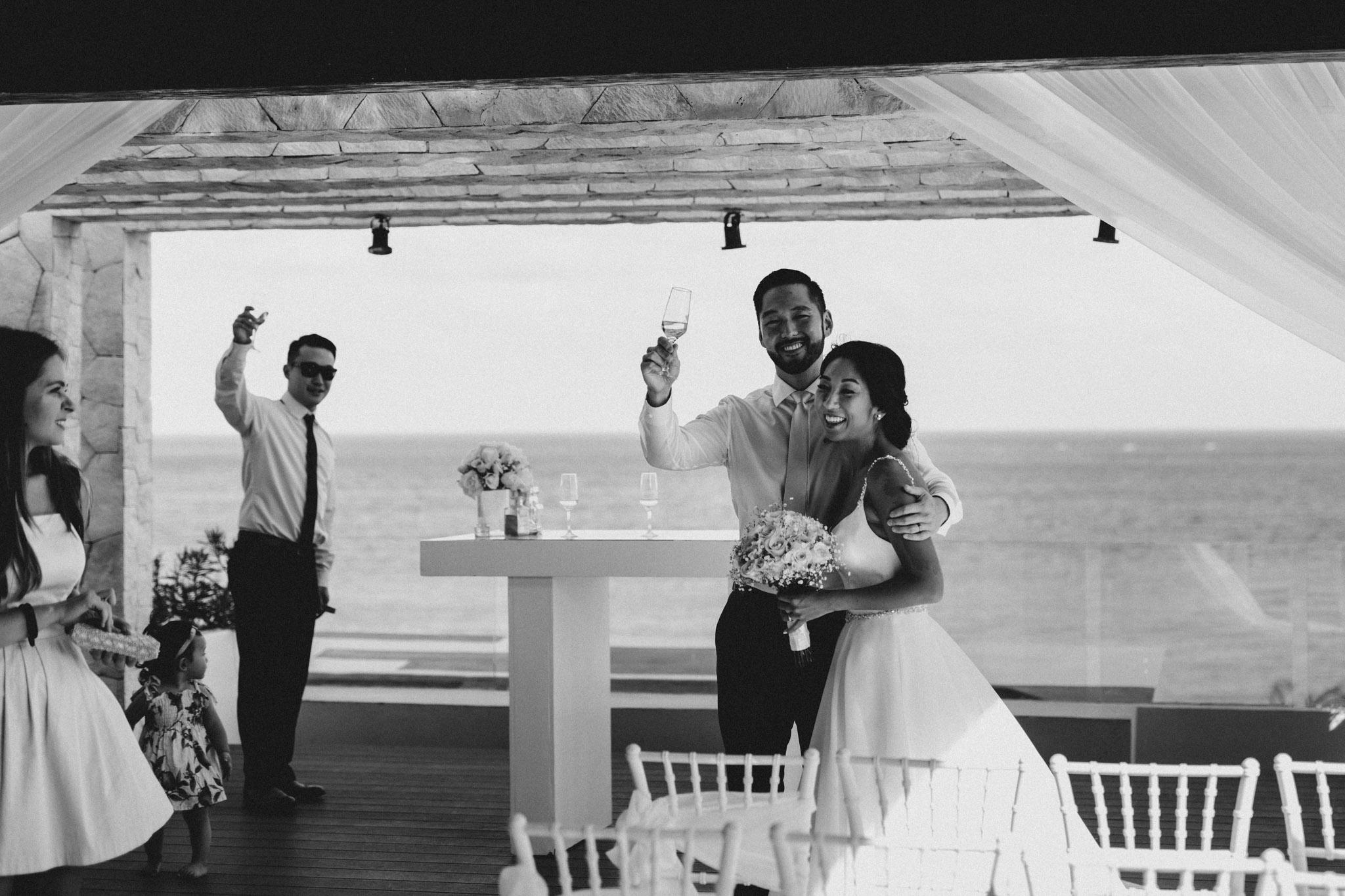 Cancun Mexico Wedding - bride and groom speech
