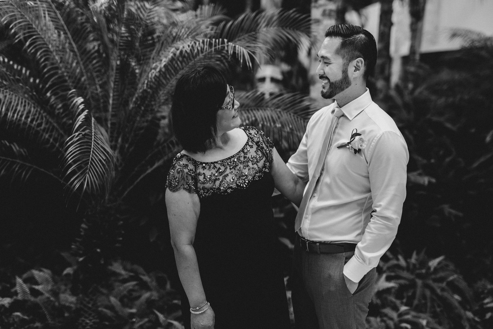Cancun Mexico Wedding - groom and mother