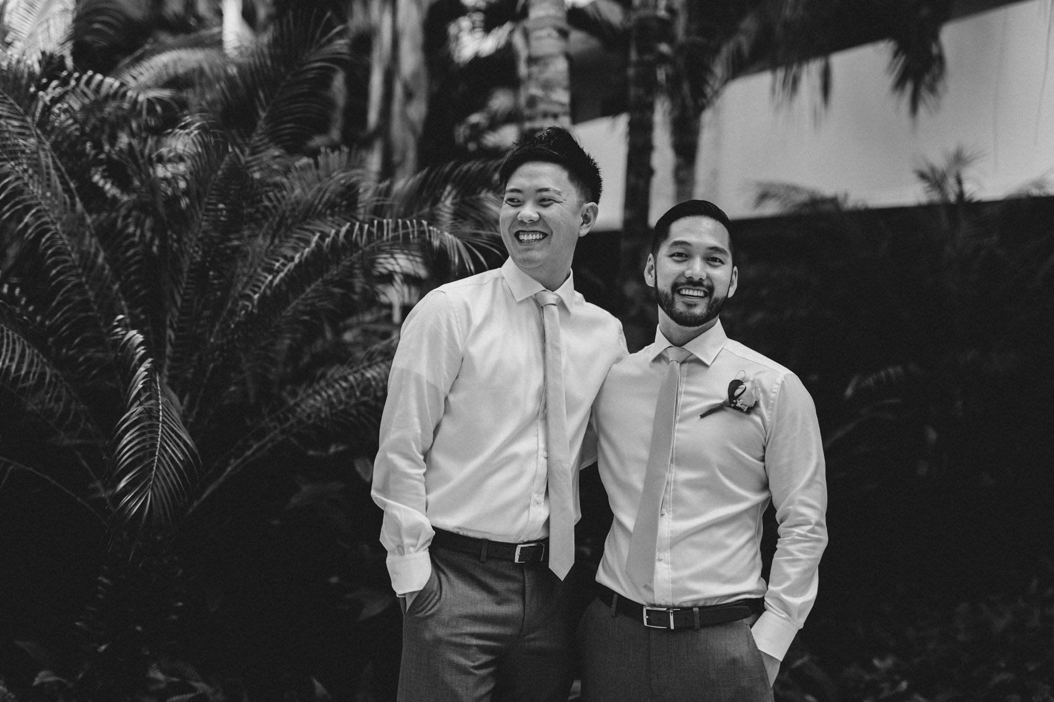 Cancun Mexico Wedding - groom and best man