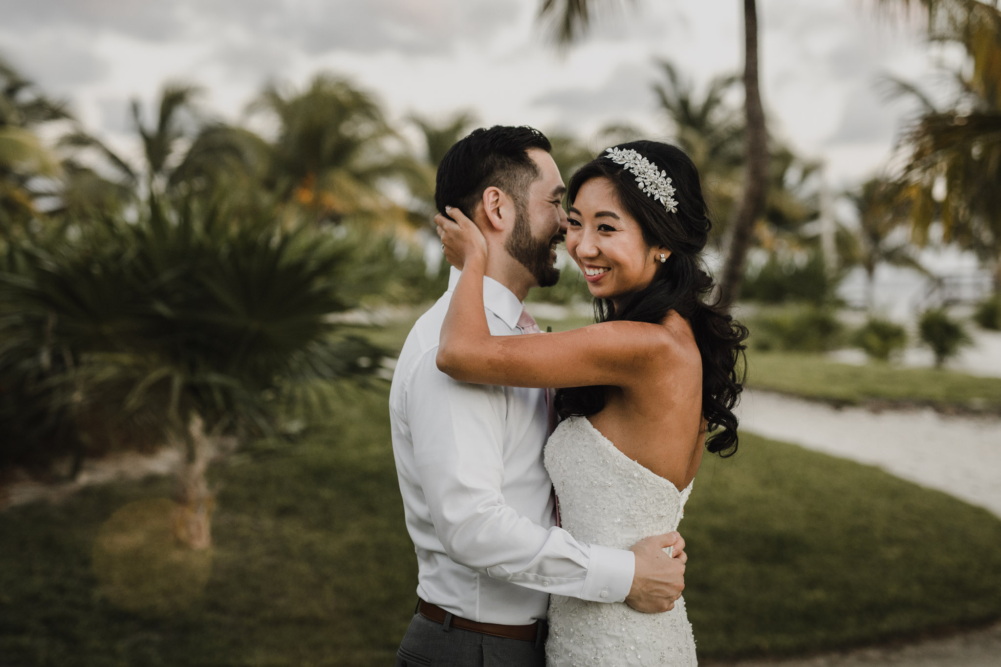 Cancun Mexico Wedding - playful on the beach