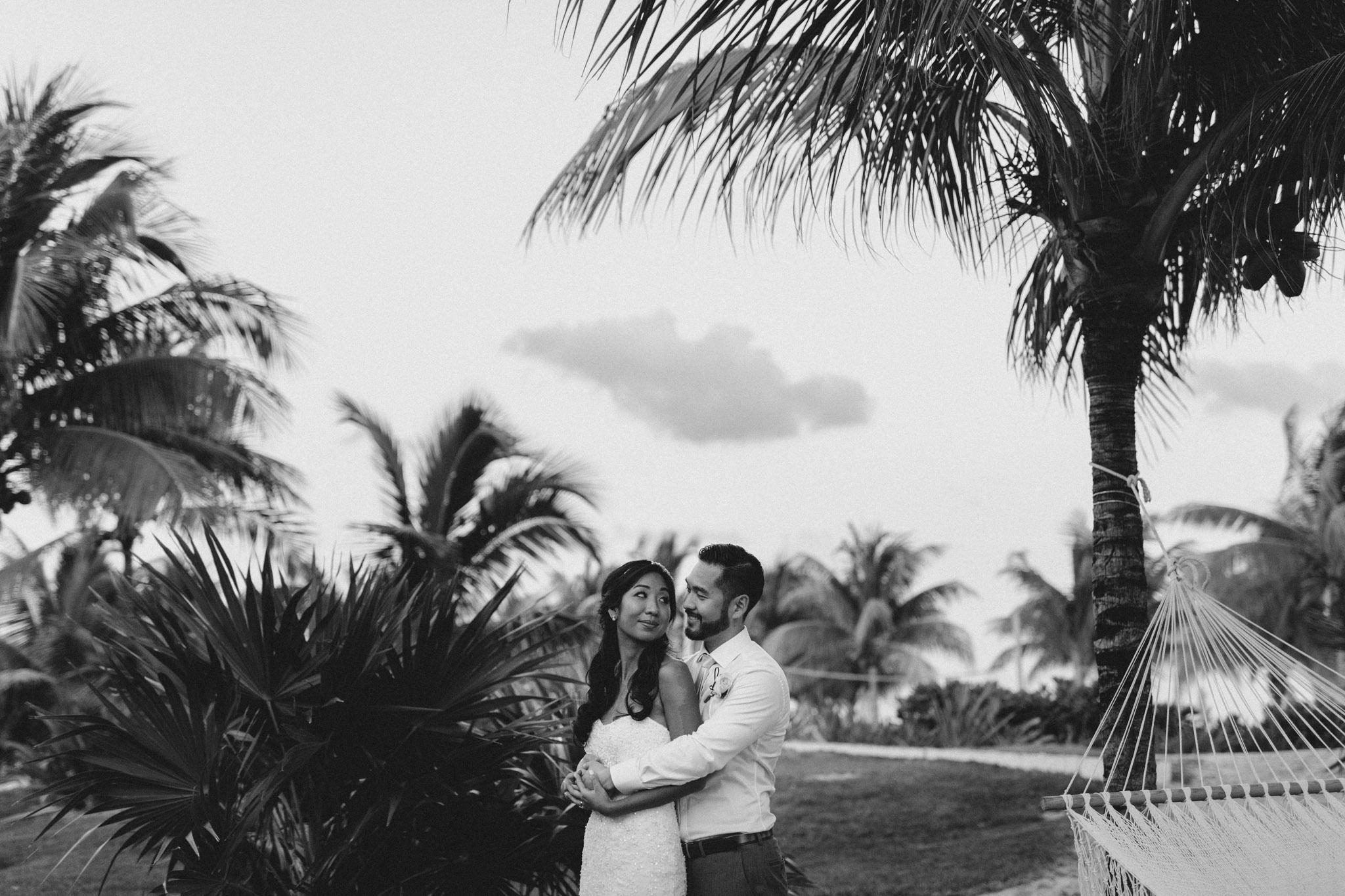 Cancun Mexico Wedding - portraits at dusk