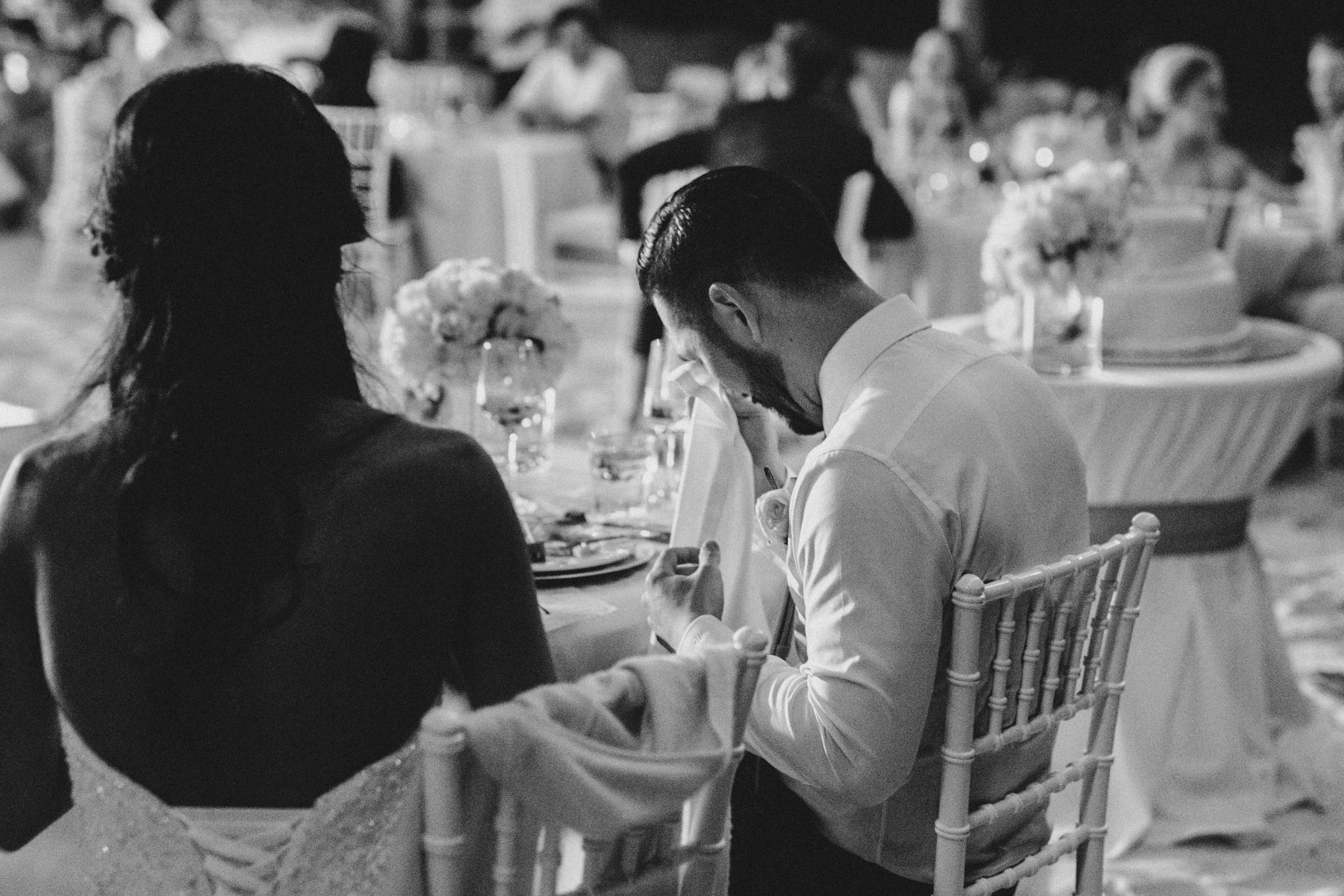 Cancun Mexico Wedding - crying after speeches