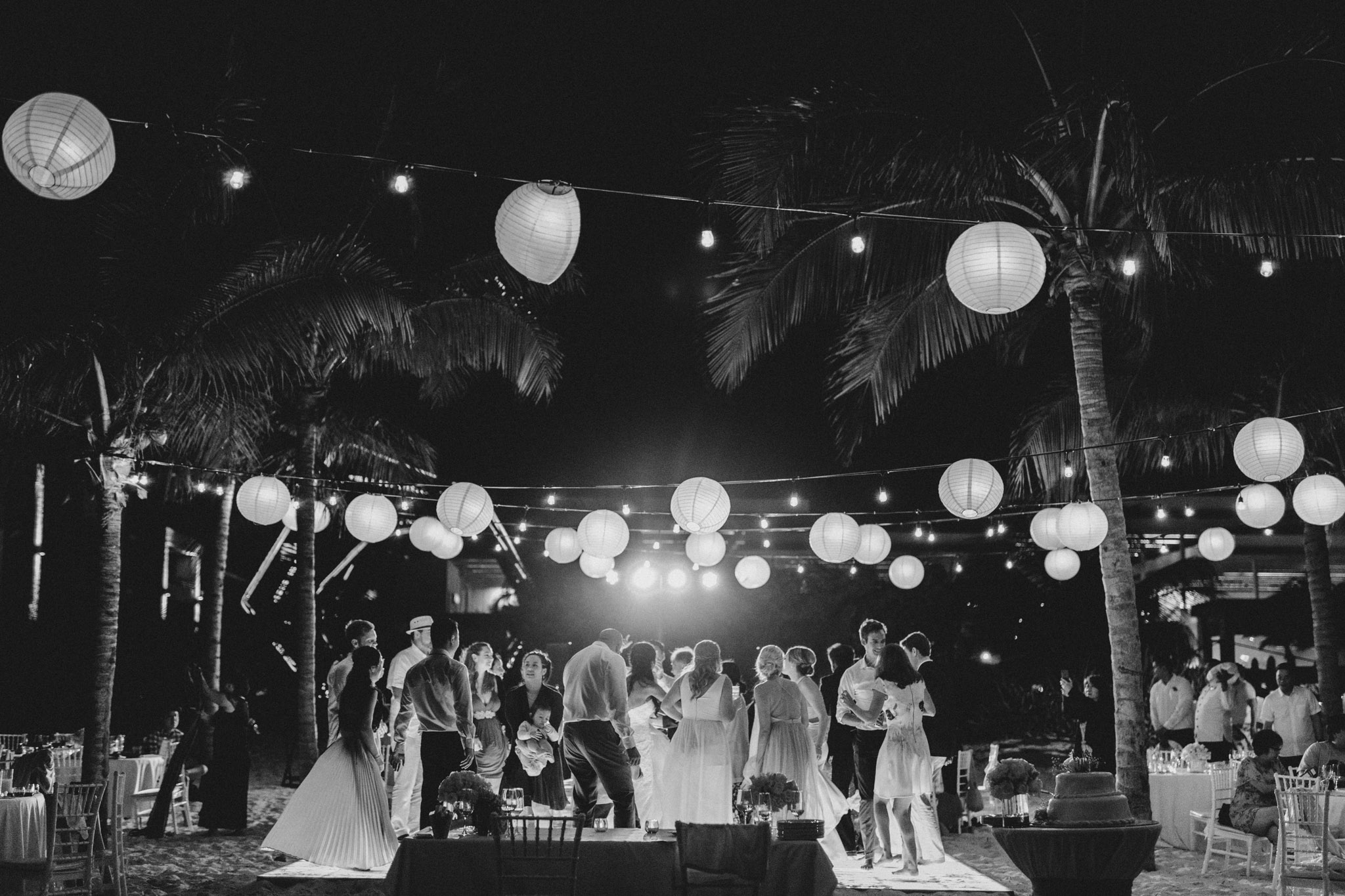 Cancun Mexico Wedding - dance party on the beach