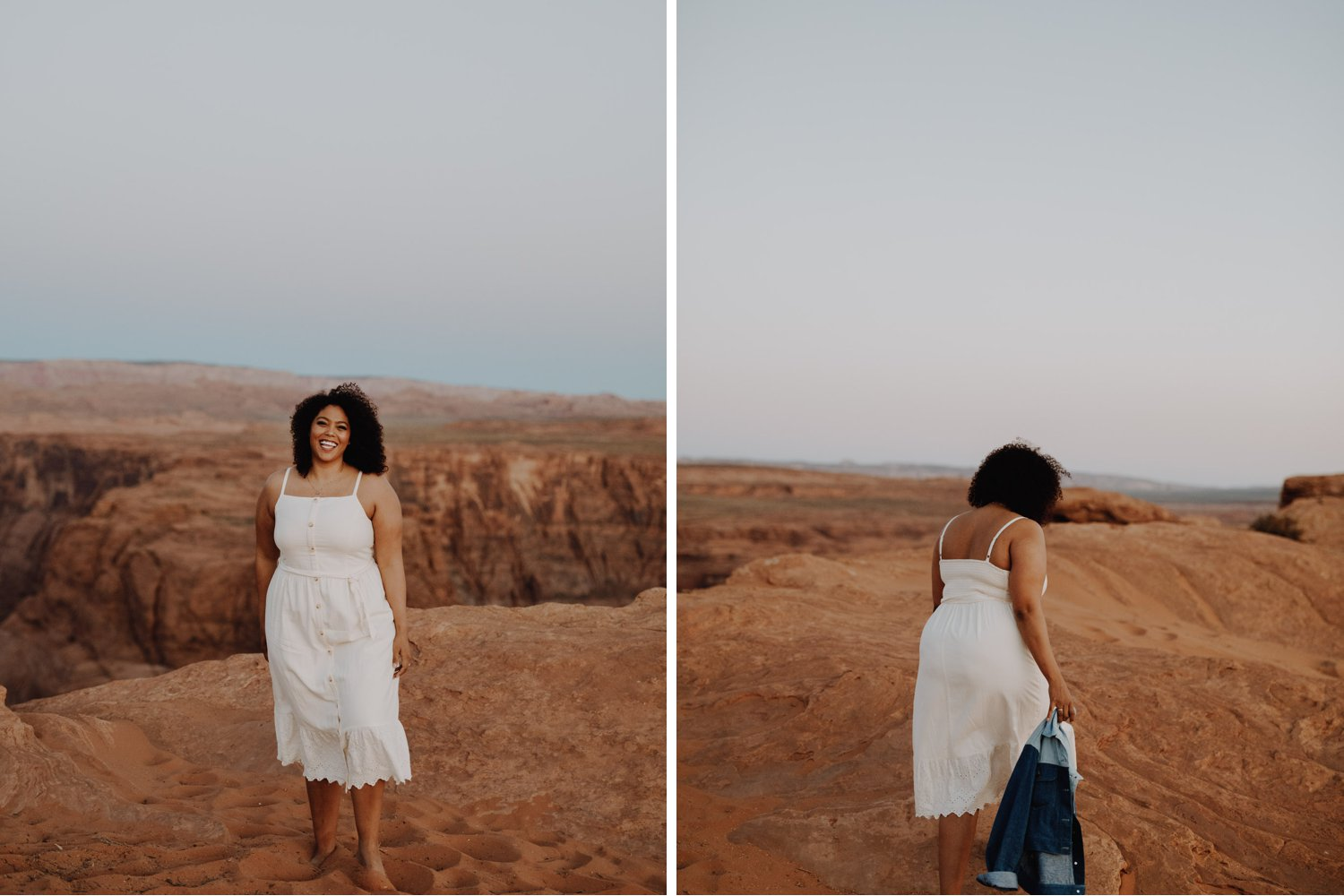 Casual Horseshoe Bend Engagement Session