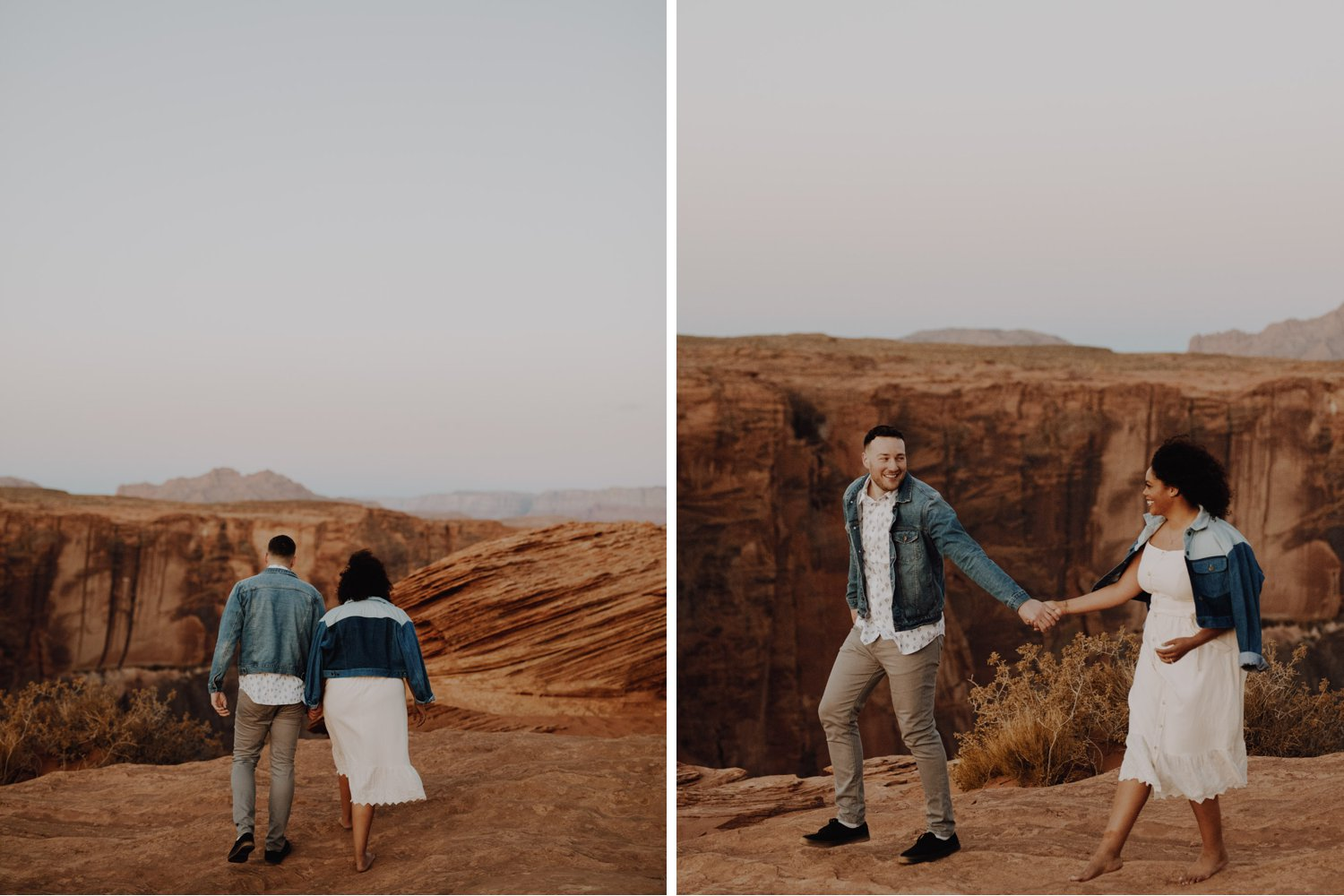 Casual Horseshoe Bend Engagement