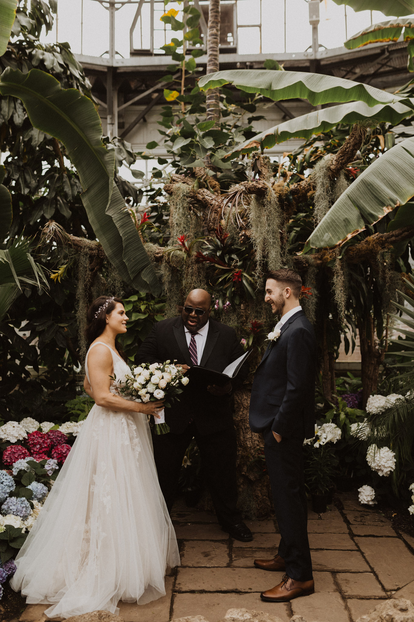 Greenhouse Elopement Allan Gardens Toronto - at the alter