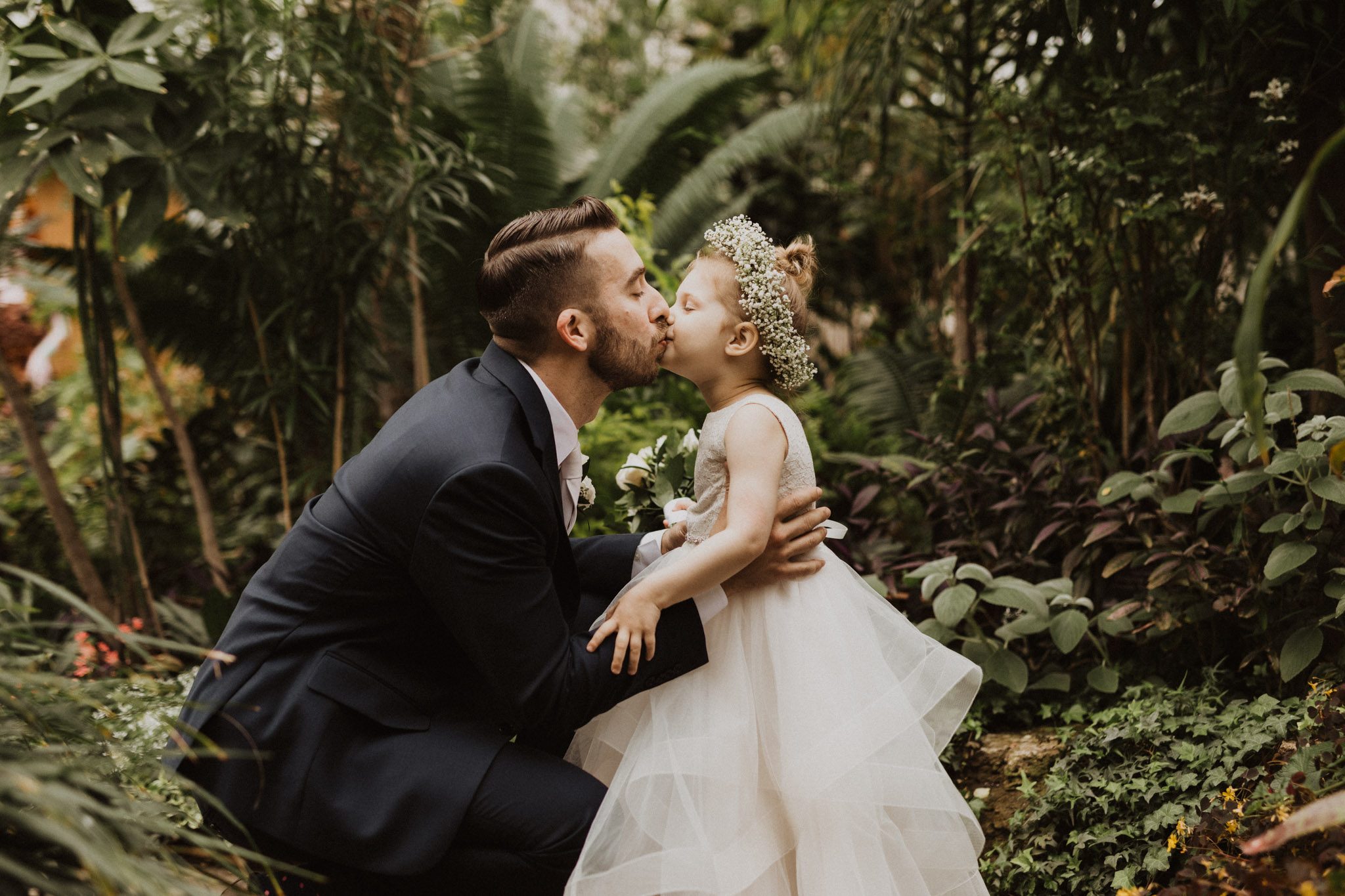 Greenhouse Elopement Allan Gardens Toronto - father and daughter