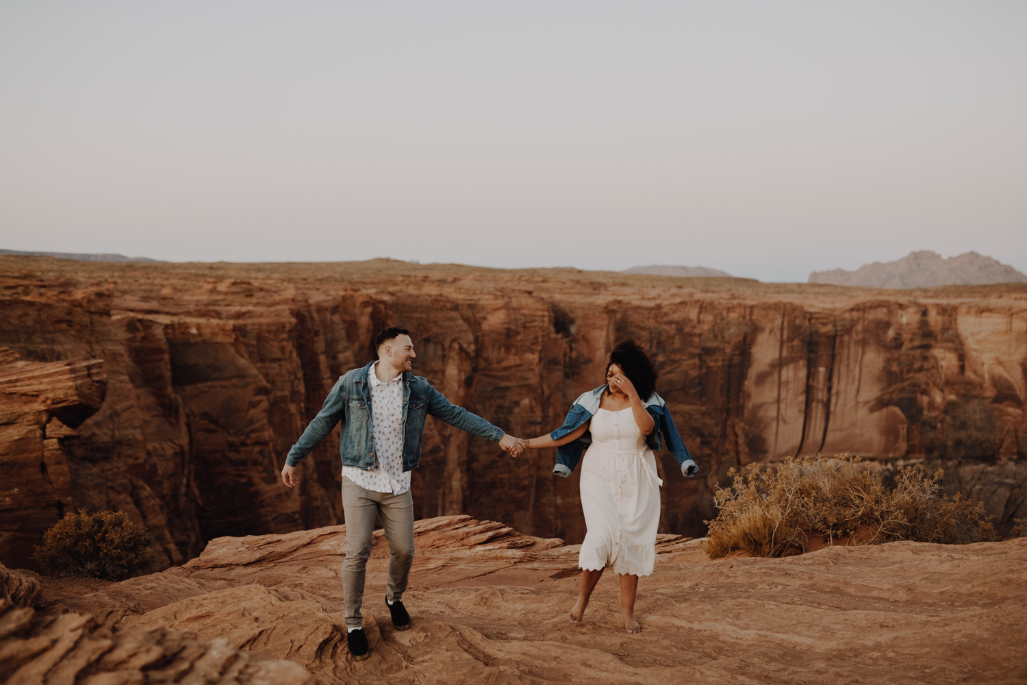 On top of the World Horseshoe Bend Engagement Session