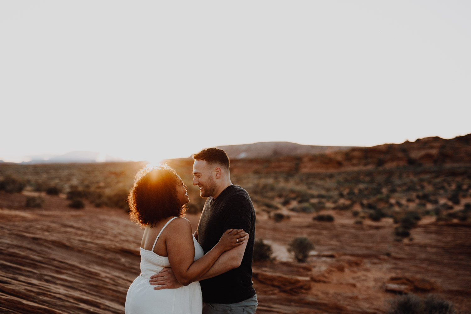Sunset Horseshoe Bend Engagement Photography