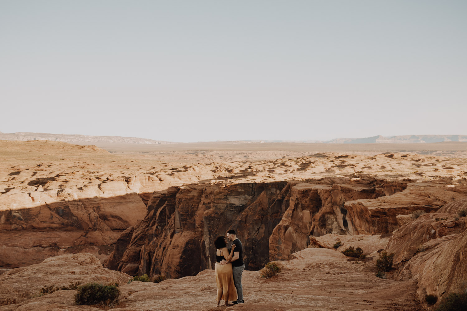 Horseshoe Bend Engagement - epic desert engagement photos