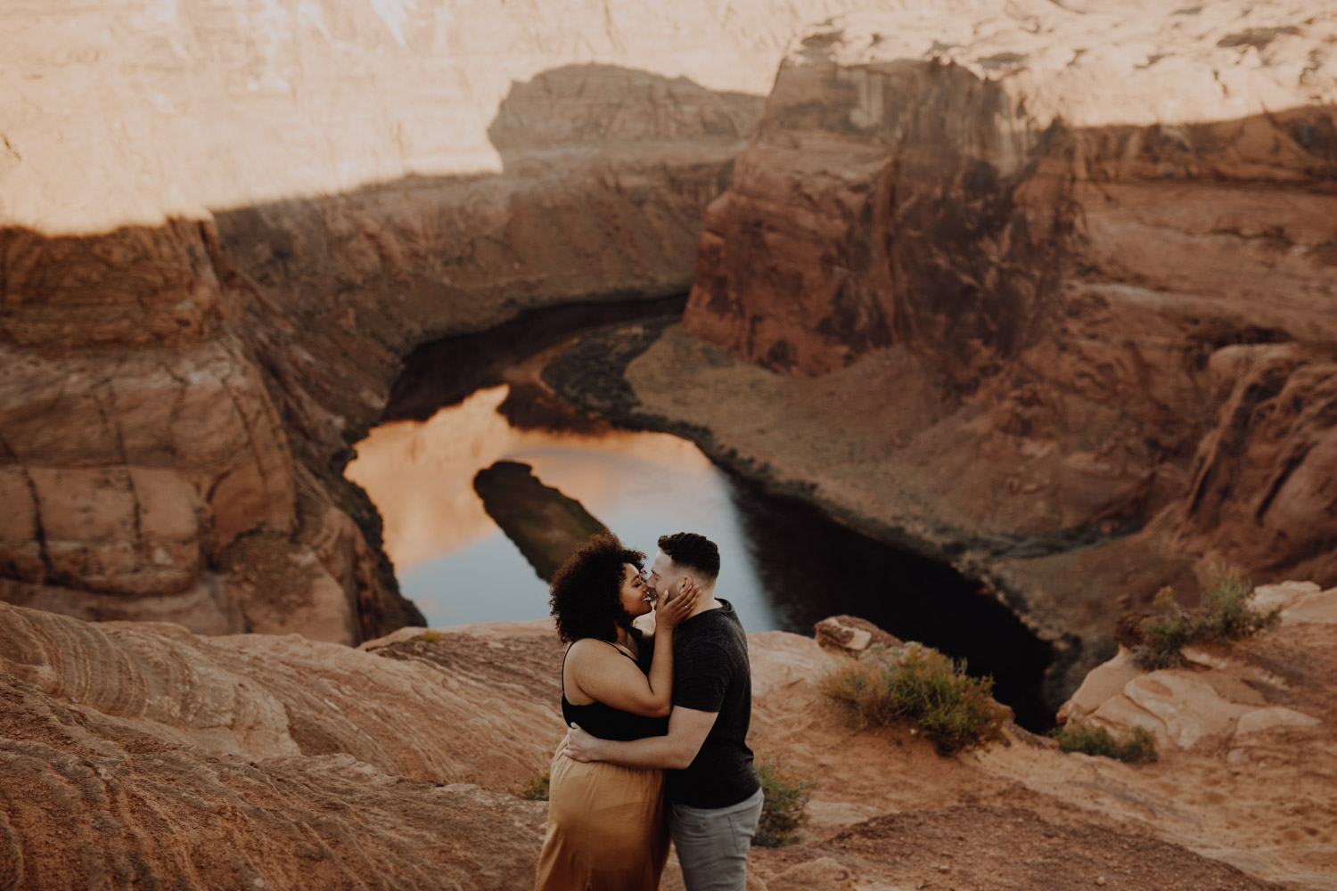 Horseshoe Bend Engagement Session at Sunset