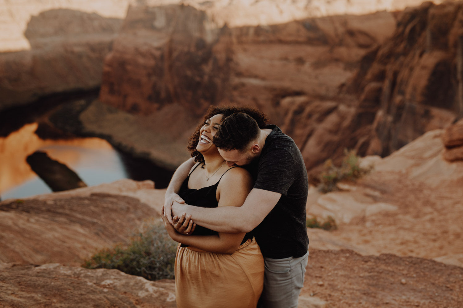 Horseshoe Bend Engagement at Sunset
