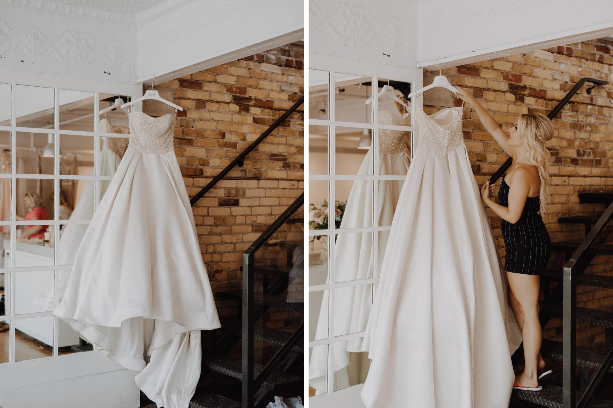 The dress. Love By Lynzie. Wedding Photographer Jennifer See Studios.