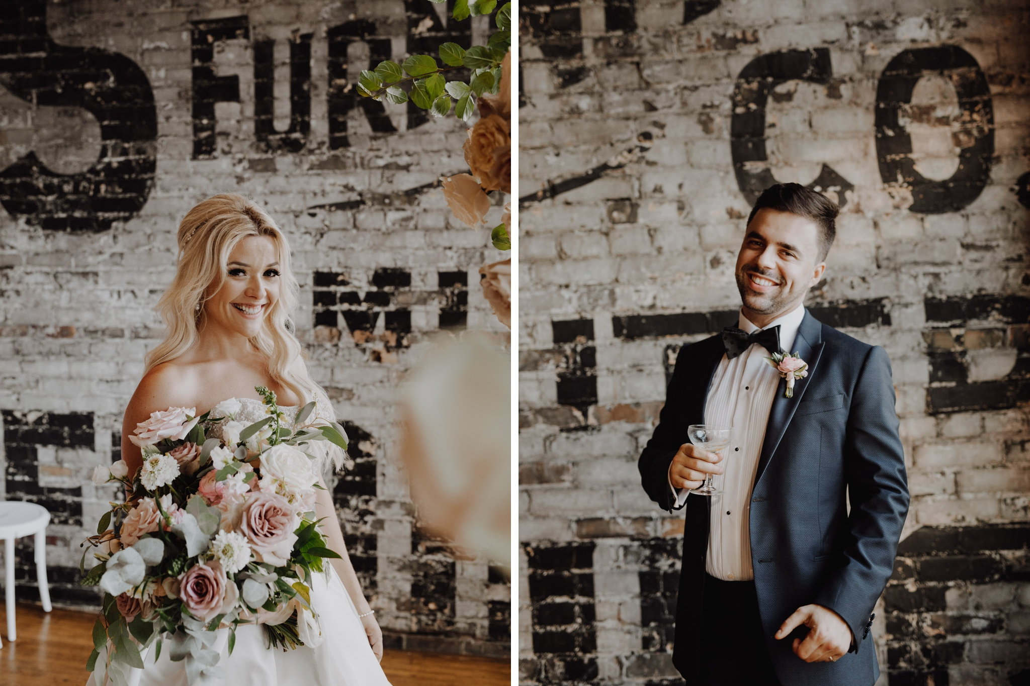 Bride and groom portraits at The Burroughes Wedding. Love By Lynzie. Wedding Photographer Jennifer See Studios.