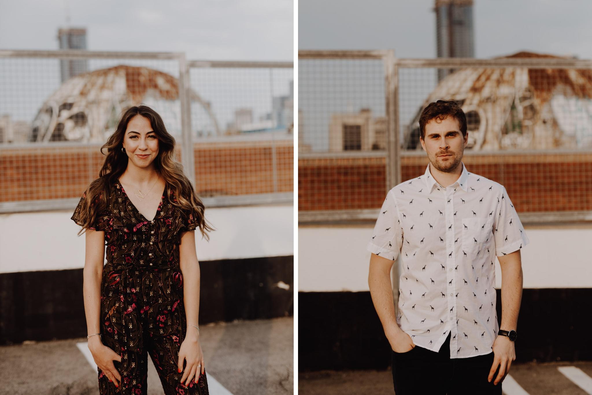 Rooftop portraits. Kensington Engagement. Jennifer See Studios.