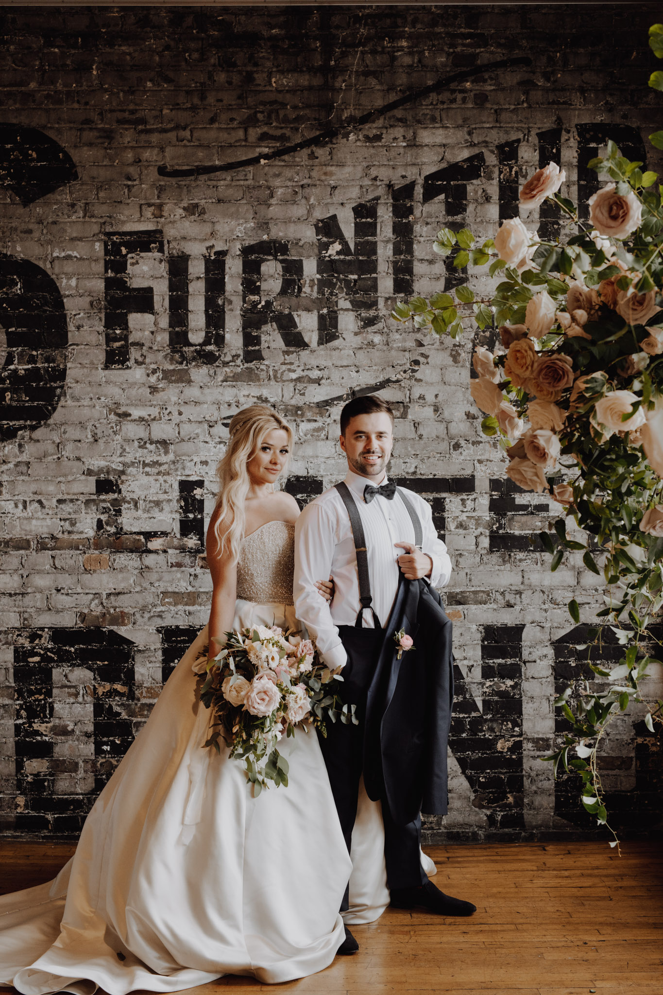 Swanky portraits at The Burroughes Wedding. Love By Lynzie. Wedding Photographer Jennifer See Studios.