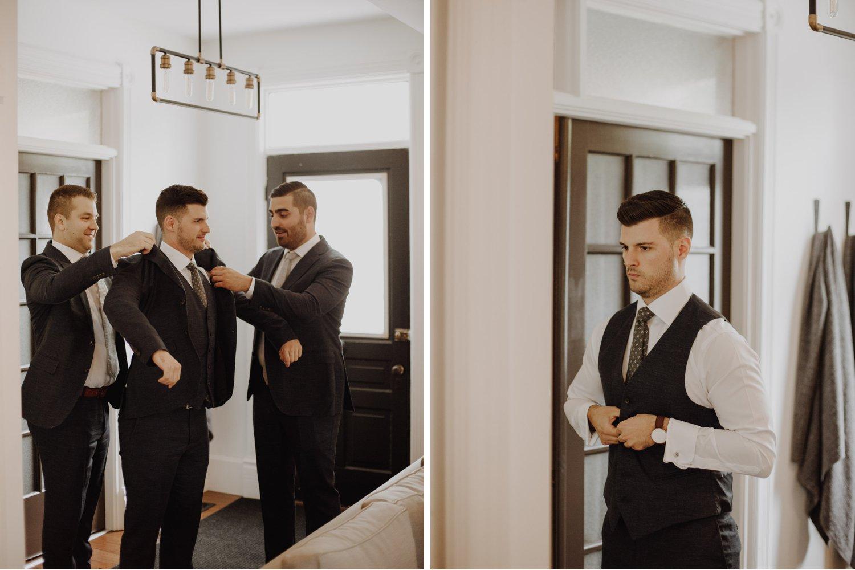 Elora Mill Wedding - groom prep