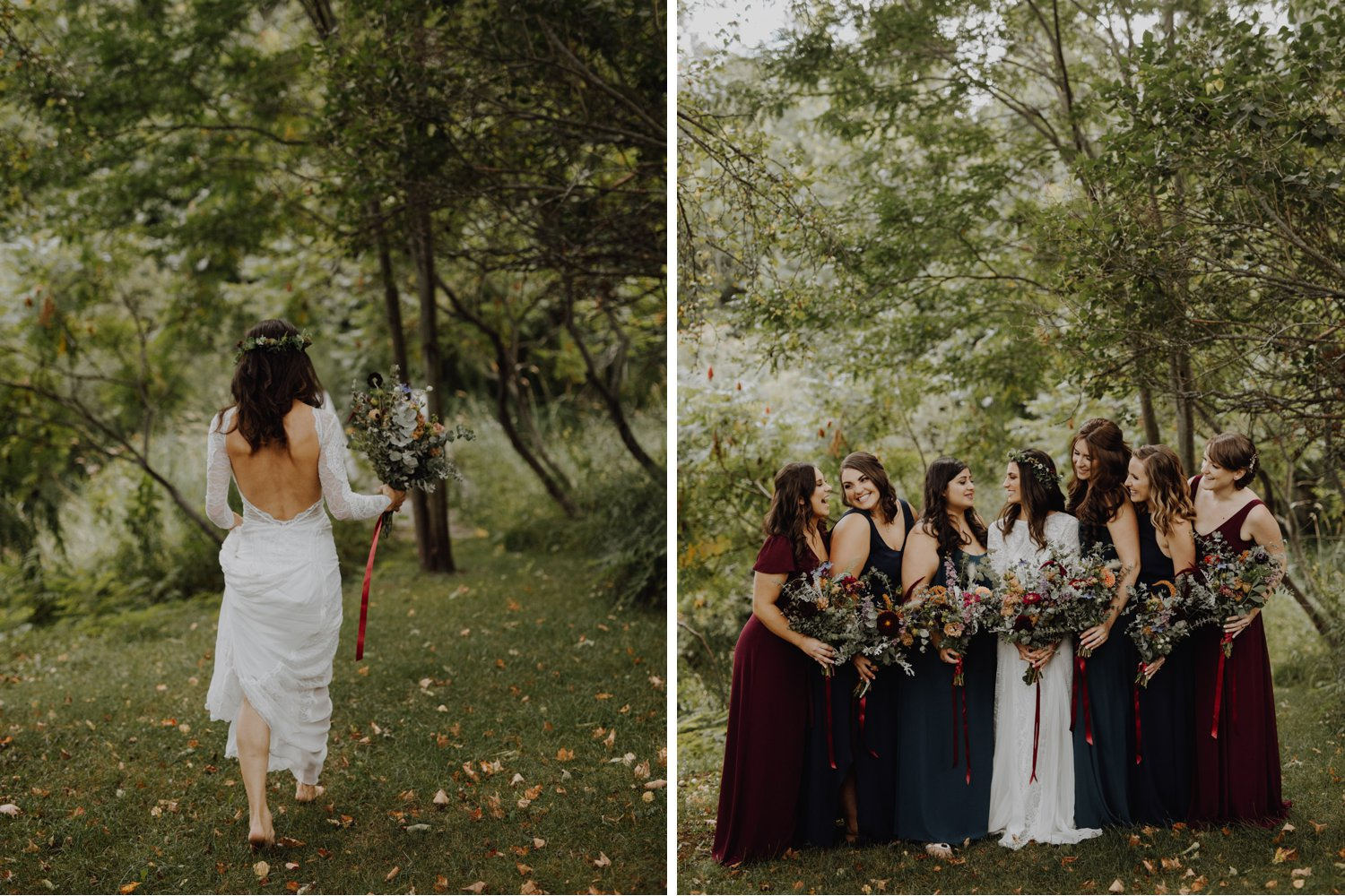 Outdoor Camp Wedding - bridal party portraits