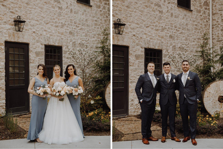 Elora Mill Wedding - wedding party portraits