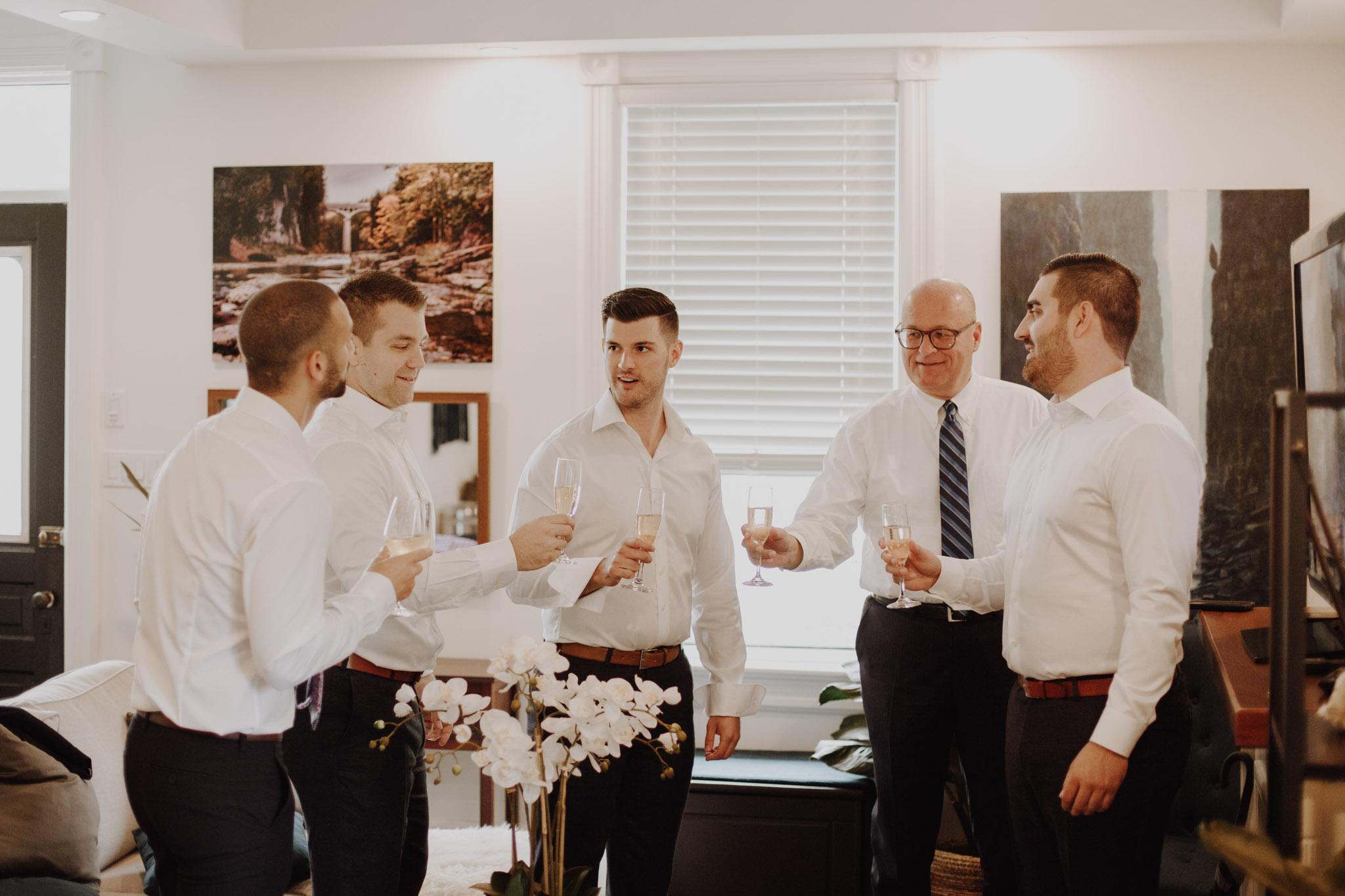 Elora Mill Wedding - Groomsmen shots