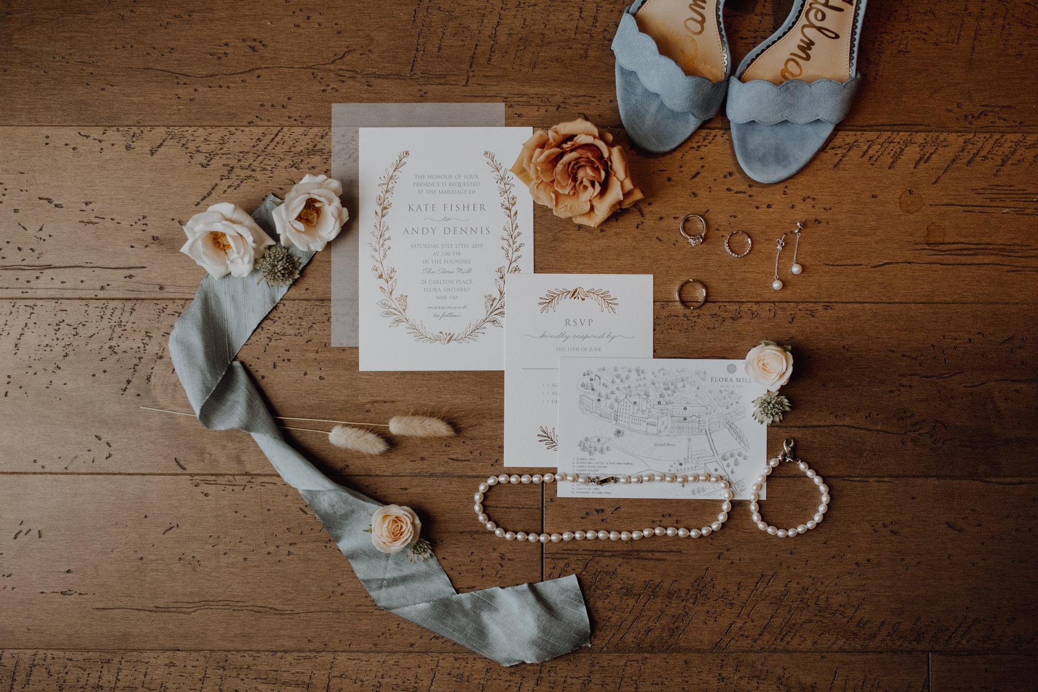 Elora Mill Wedding Details - Jennifer See Studio
