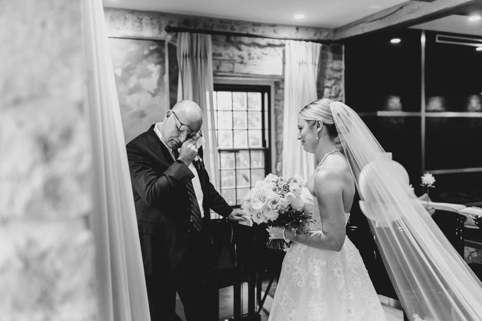 Elora Mill Wedding - Father's first look