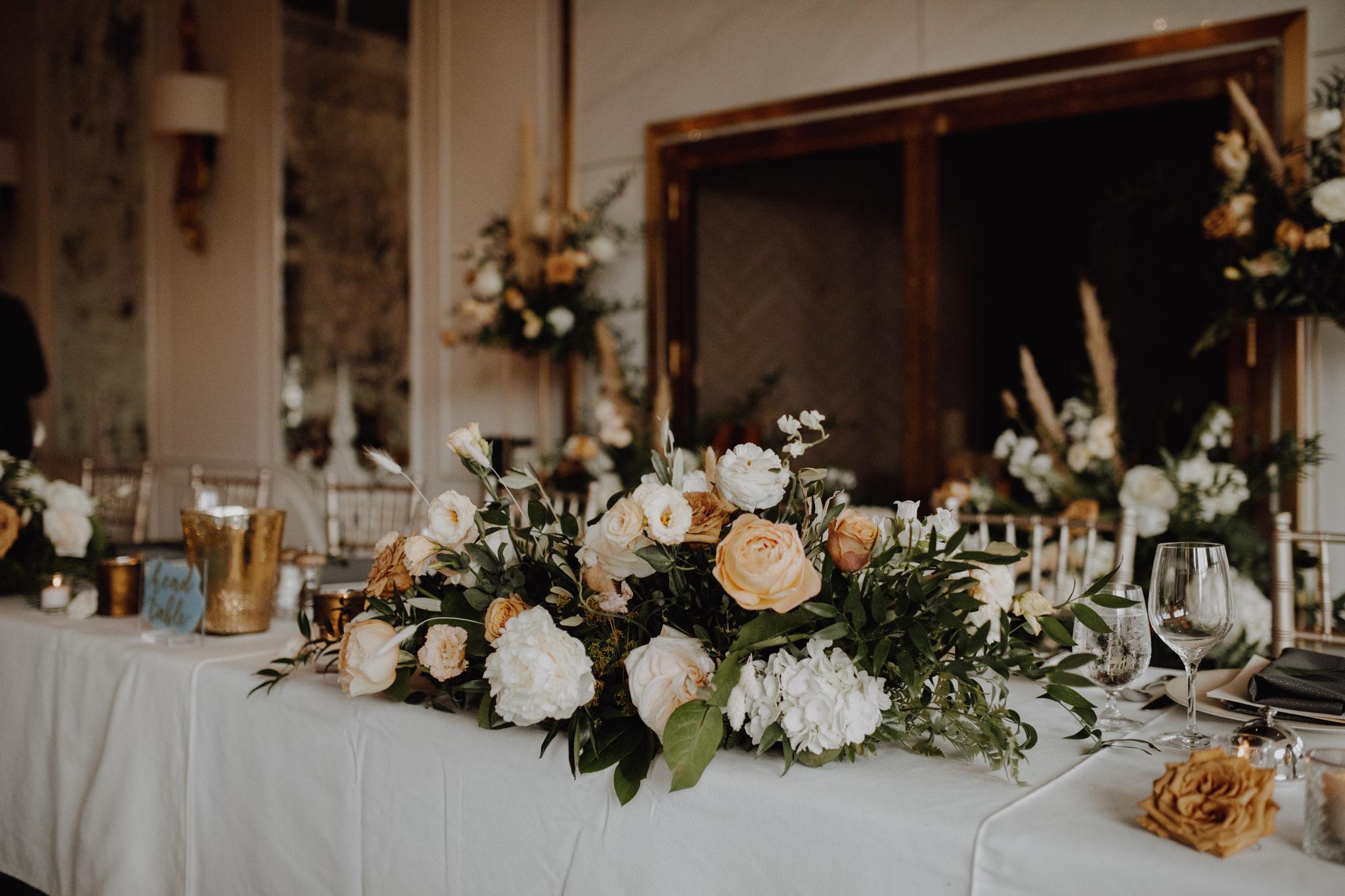 Elora Mill Wedding - peach floral details