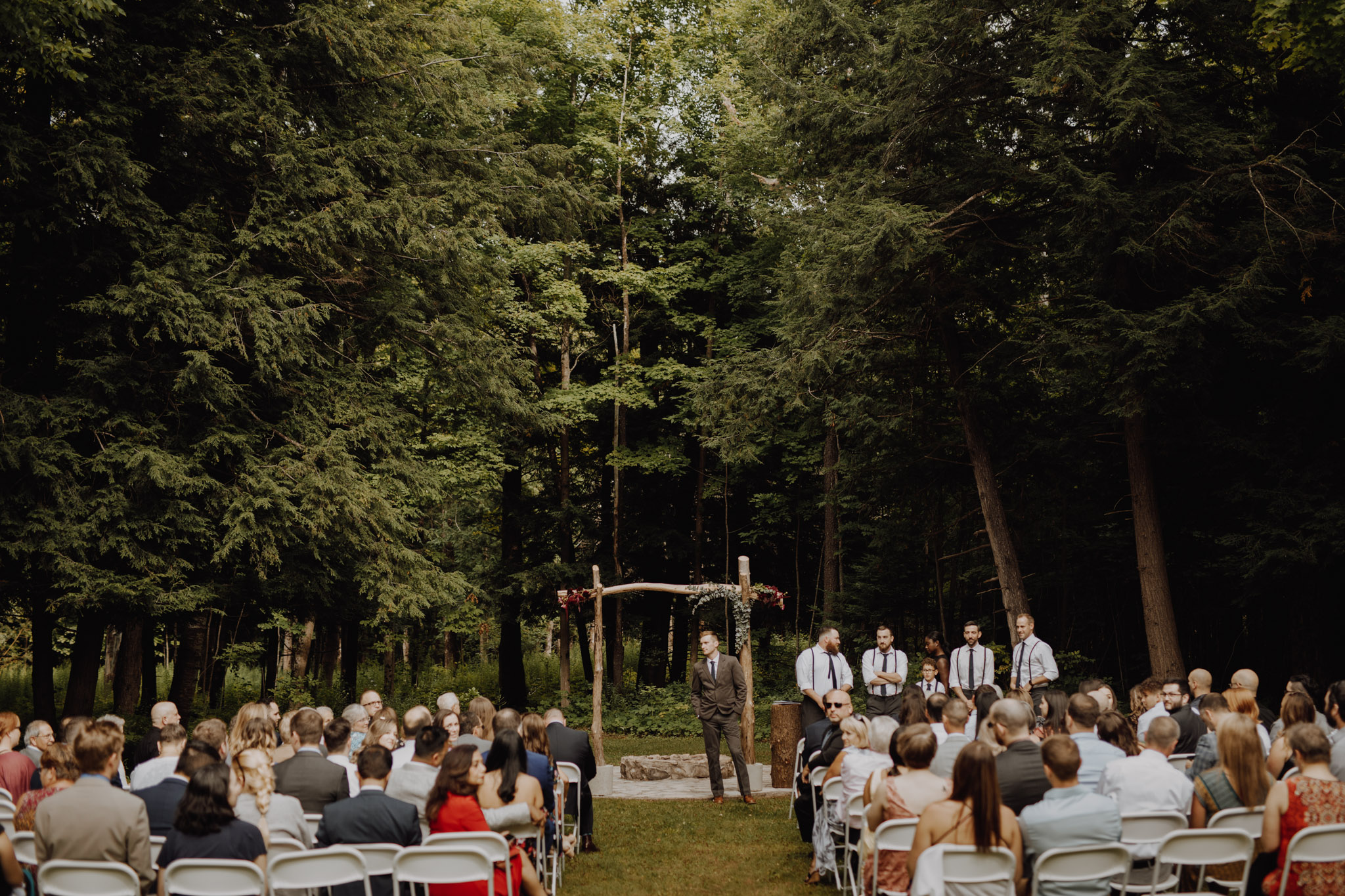 Outdoor Camp Wedding - the ceremony