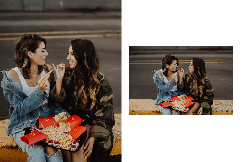 Mcdonalds engagement session - fry pinkyswear