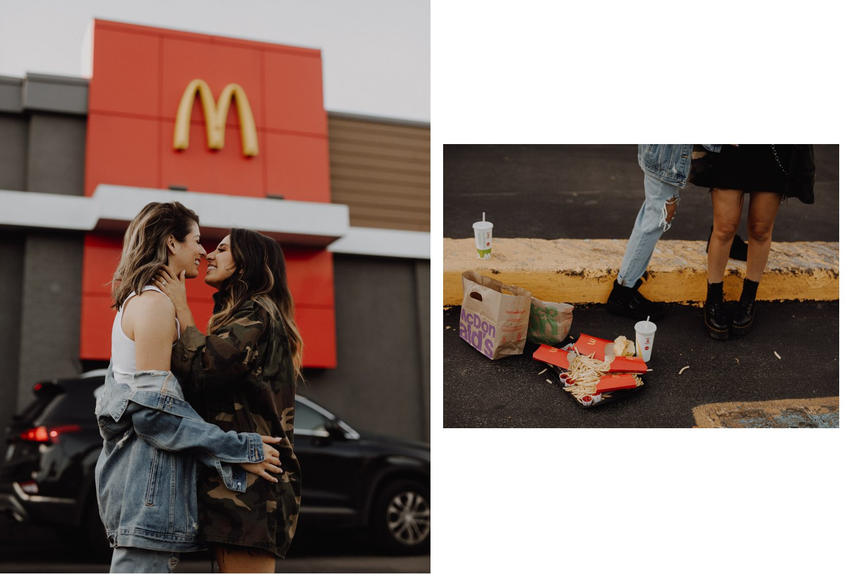 Mcdonalds engagement session - kissing by Mcdonalds