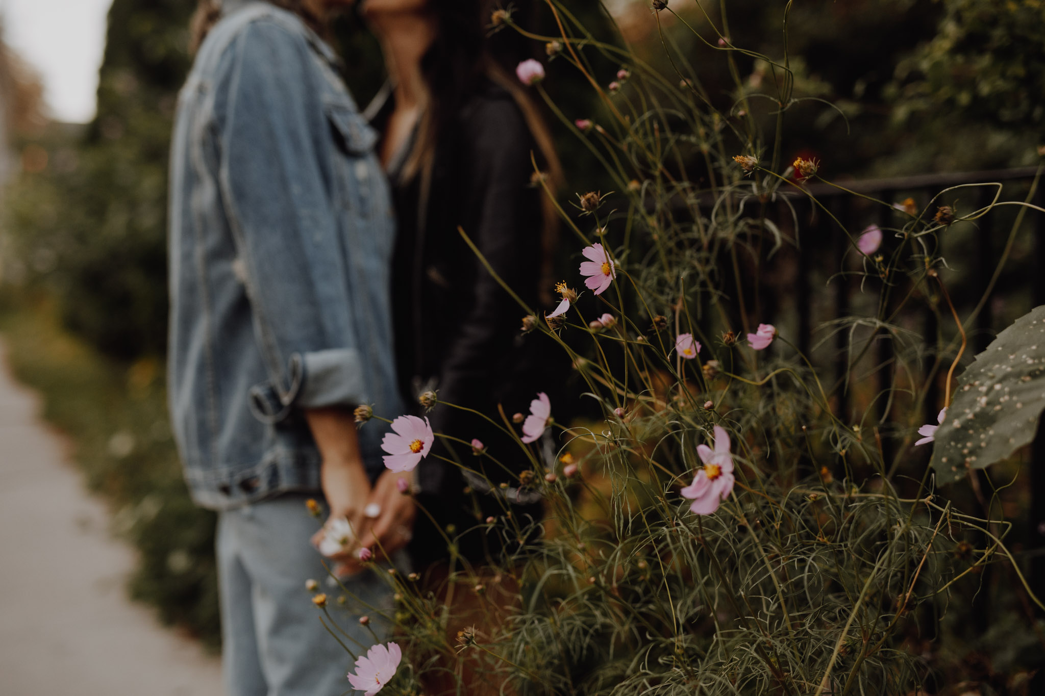 Mcdonalds engagement session - kisses in the garden