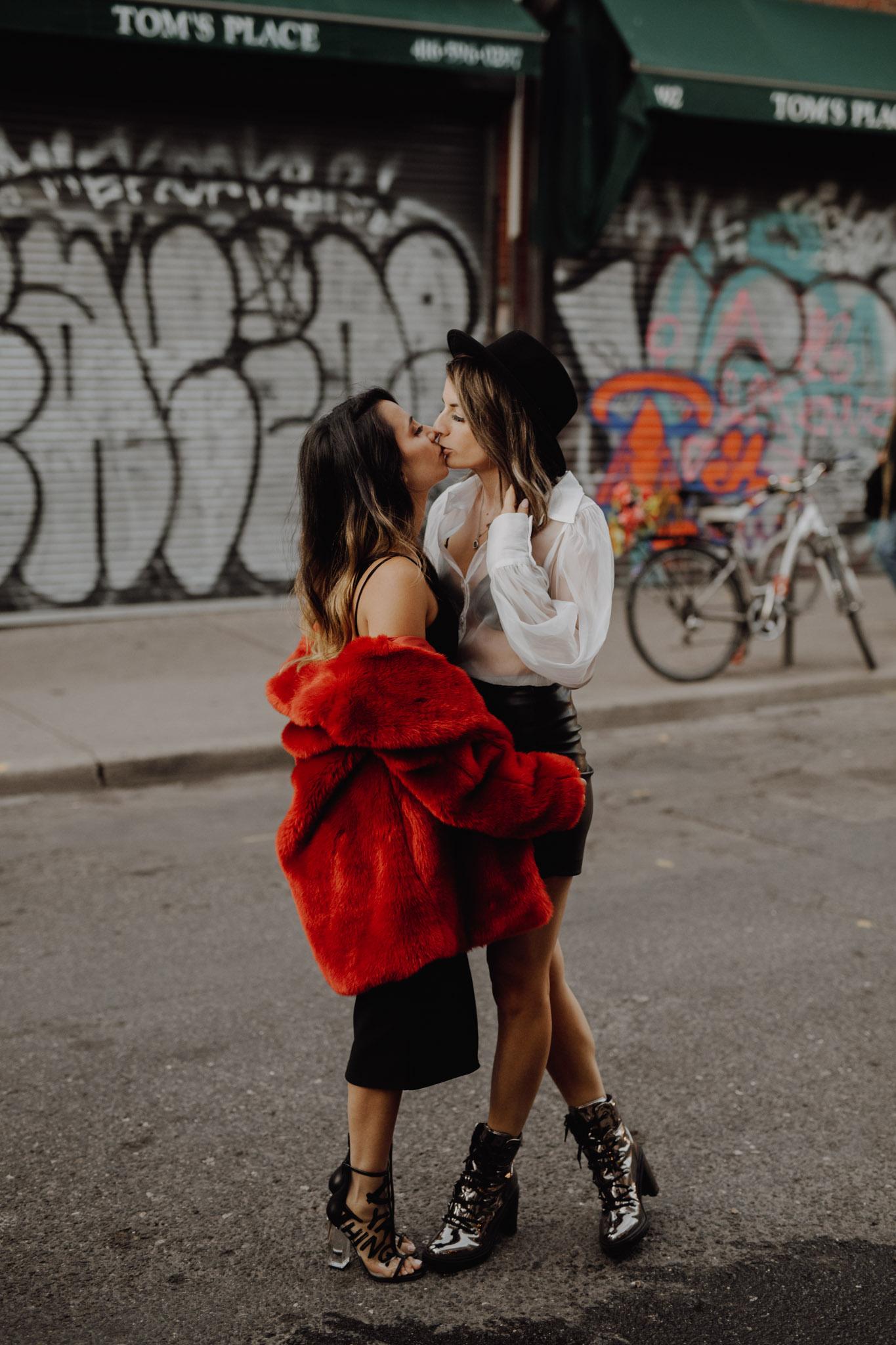 Toronto LGBTQ Engagement Photographer - the kiss