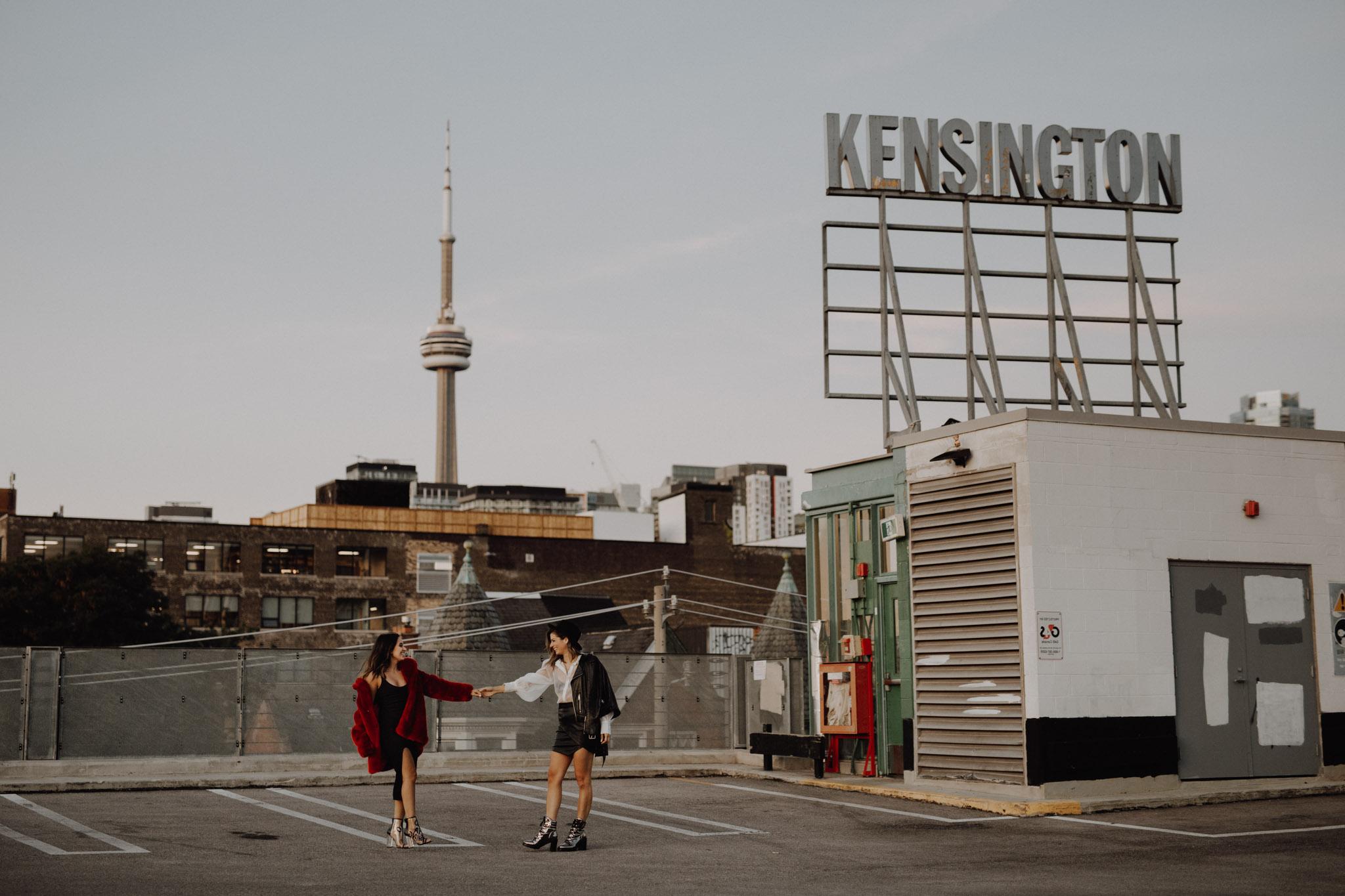 Toronto LGBTQ Engagement Photographer - kensington roof top engagement
