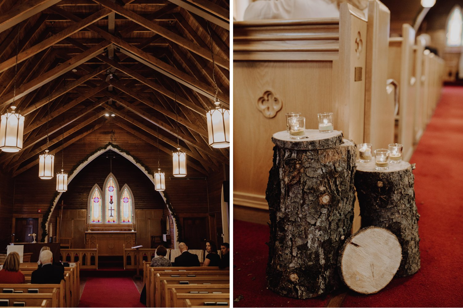 Banff Wedding - rustic wooden chapel