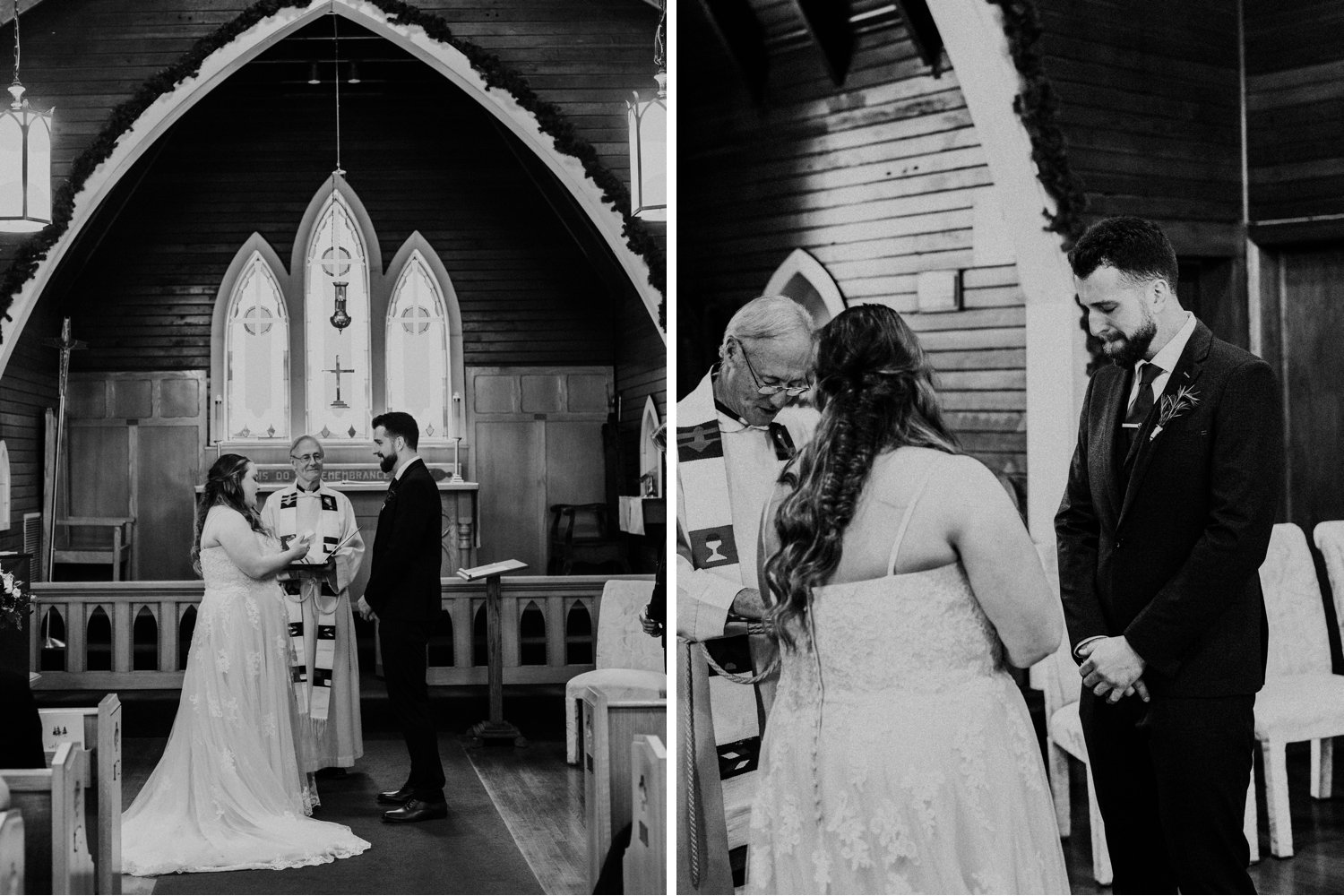 Banff Wedding - black and white ceremony