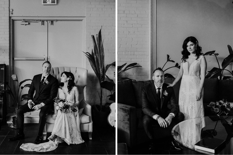 District 28 Wedding Toronto - Bride & Groom black and white portraits