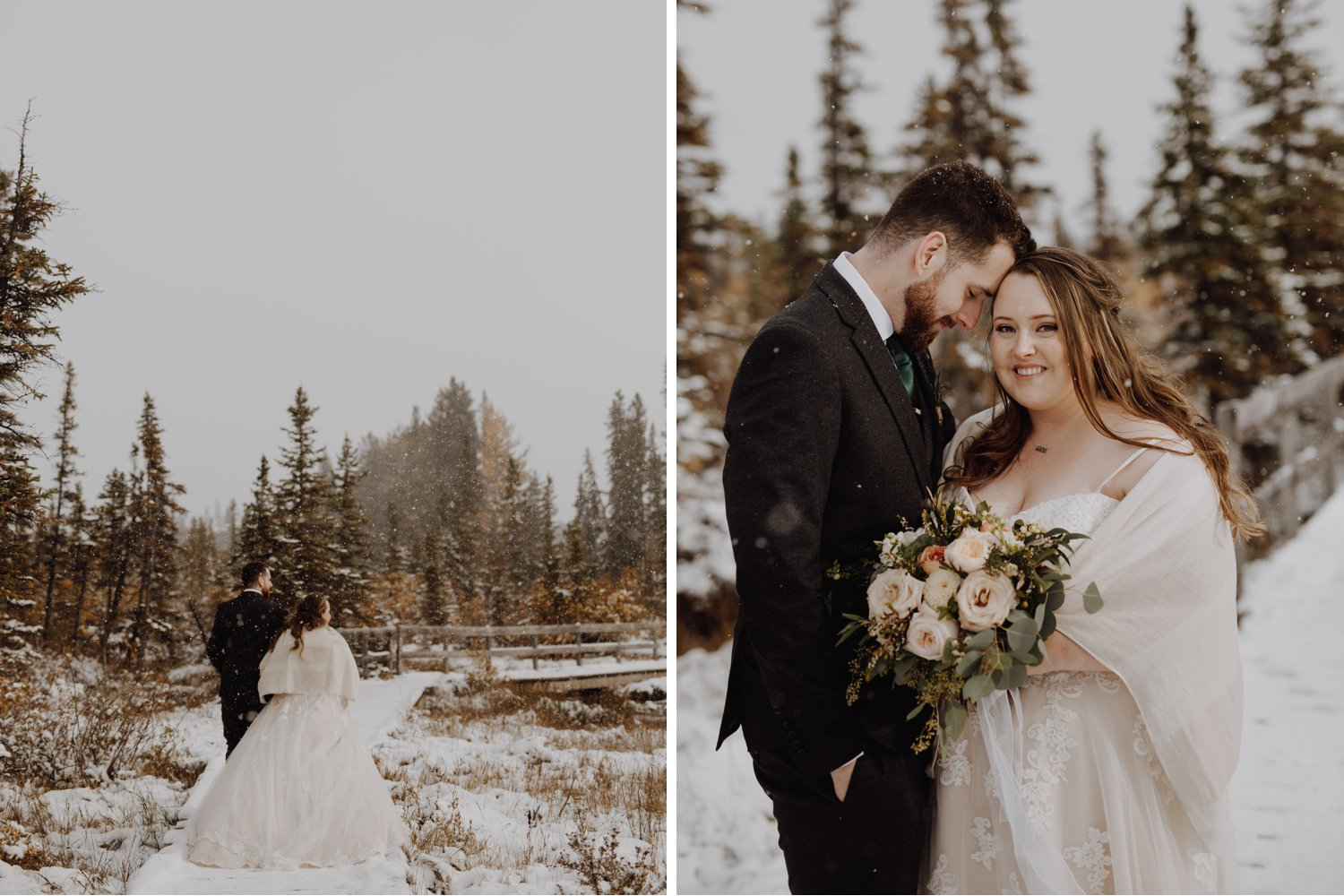 Banff Wedding - winter wonderland wedding