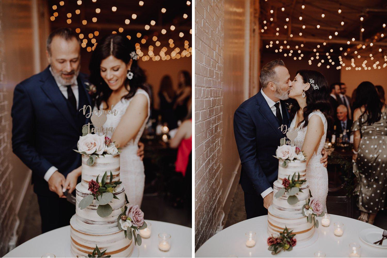District 28 Wedding Toronto - cutting the cake