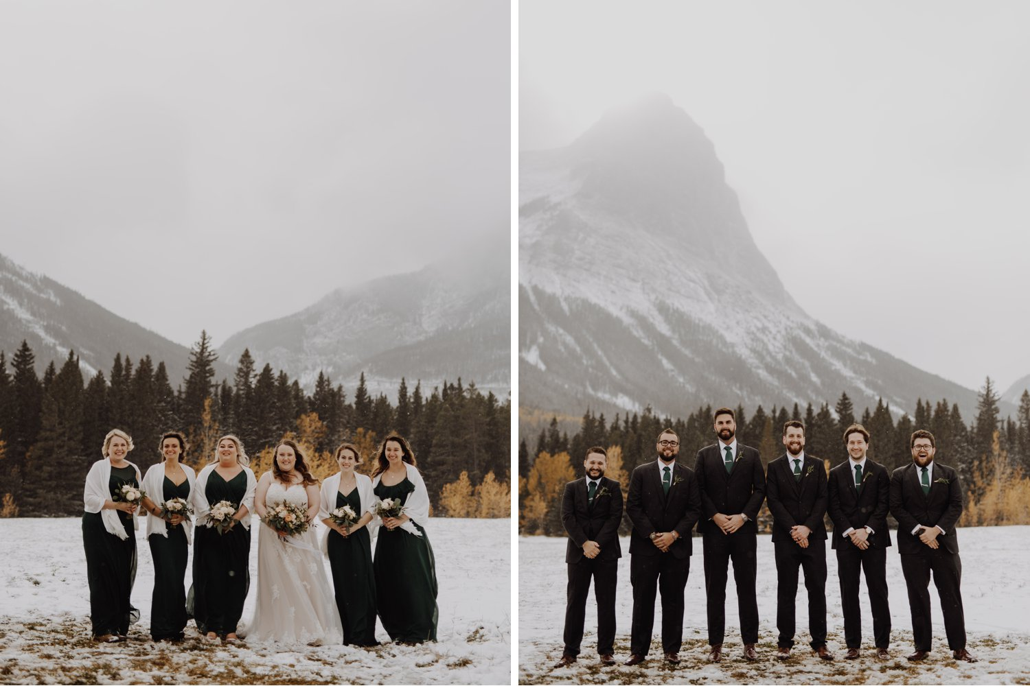 Banff Wedding - wedding party in the rocky mountains